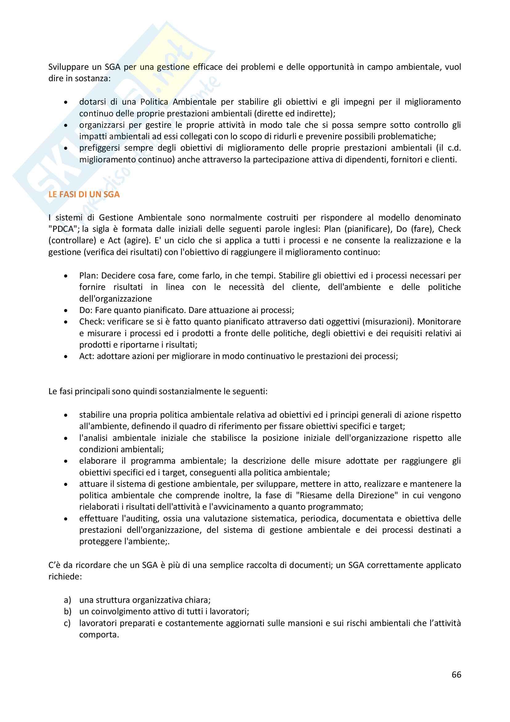 Gestione della qualità e sistemi di gestione ambientale - appunti Pag. 66