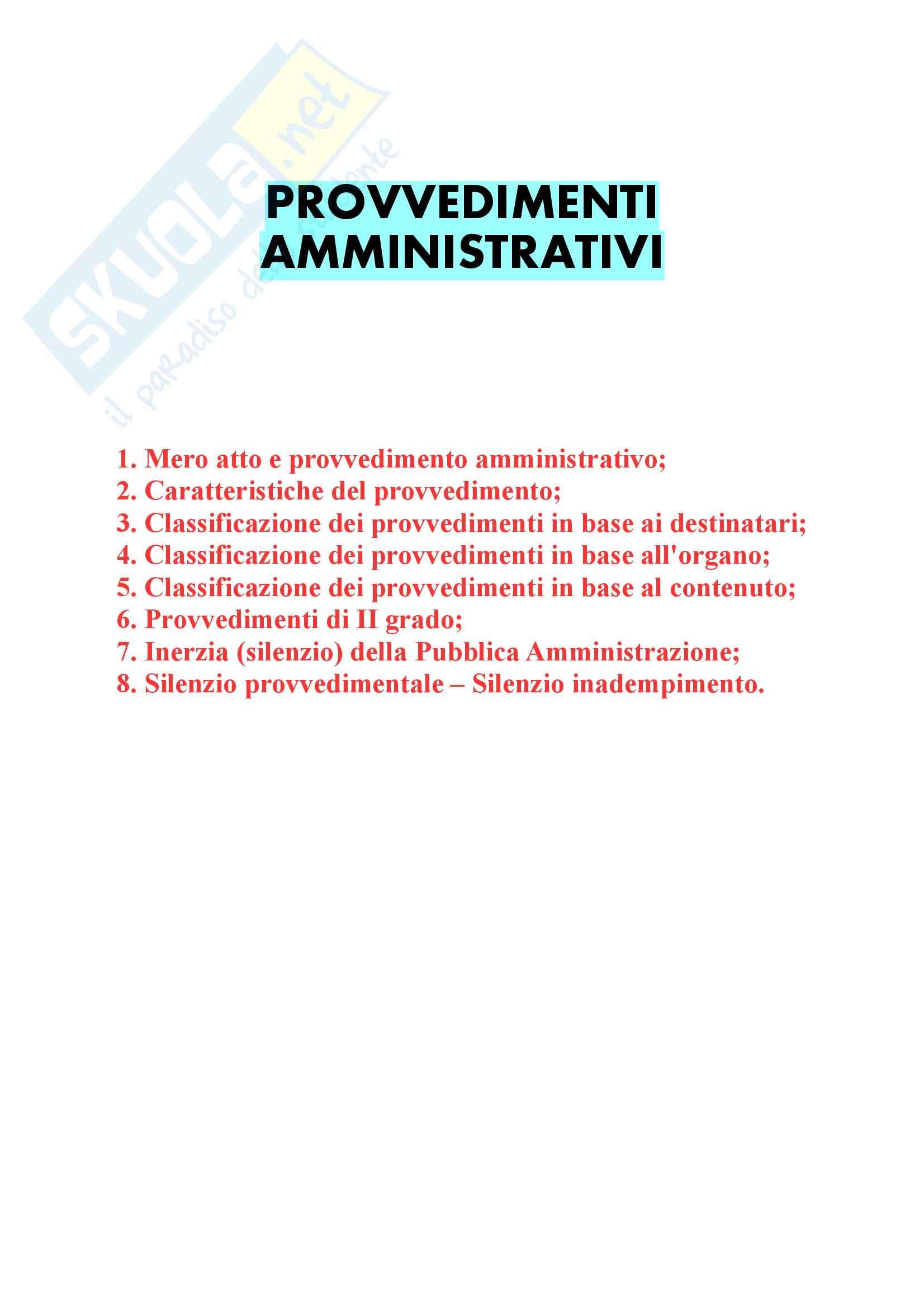 Riassunto esame Diritto amministrativo, prof. D'Emma