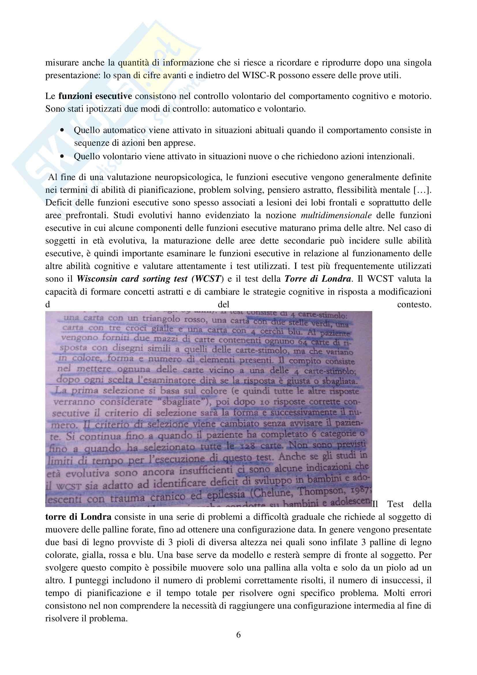 Riassunto esame Osservazione e Valutazione dello Sviluppo, prof. Costantini, libro consigliato La Valutazione del Bambino, Axia, Bonichini Pag. 6
