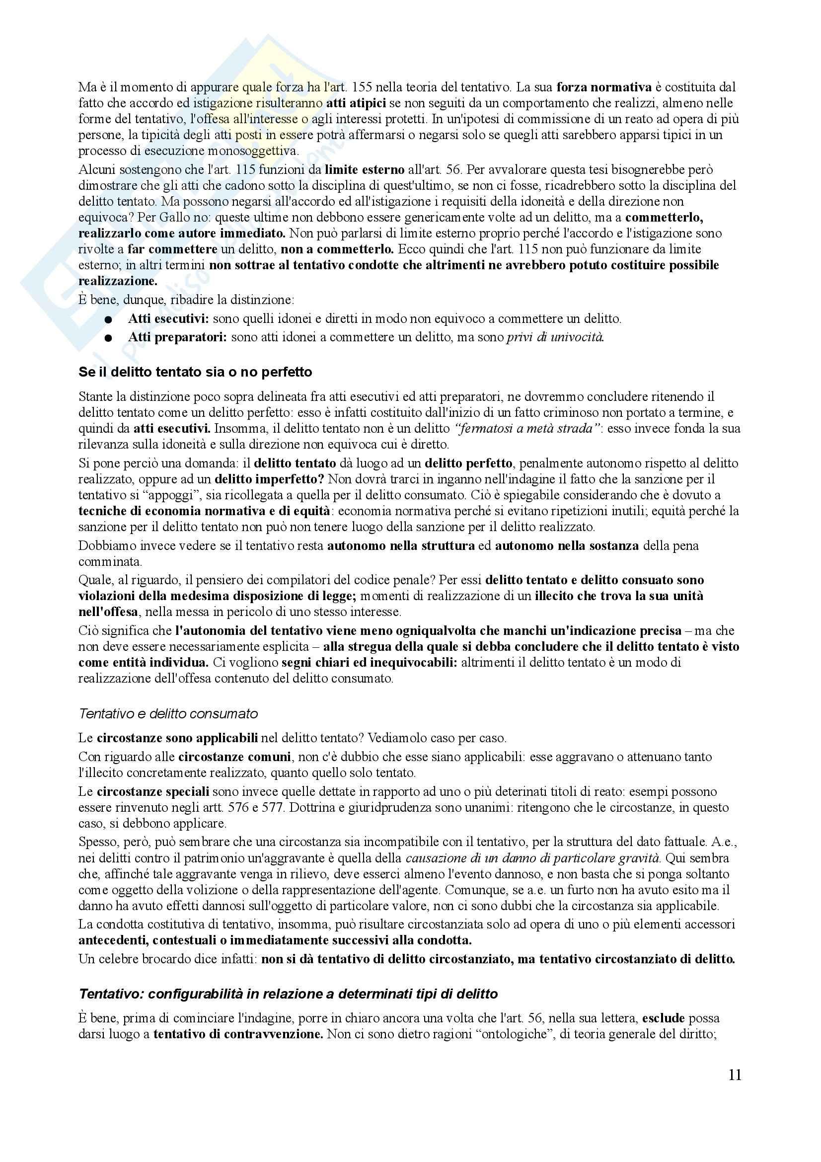 Riassunto esame Diritto Penale, prof. Trapani, libro consigliato Diritto Penale, Gallo - quarta parte Pag. 11