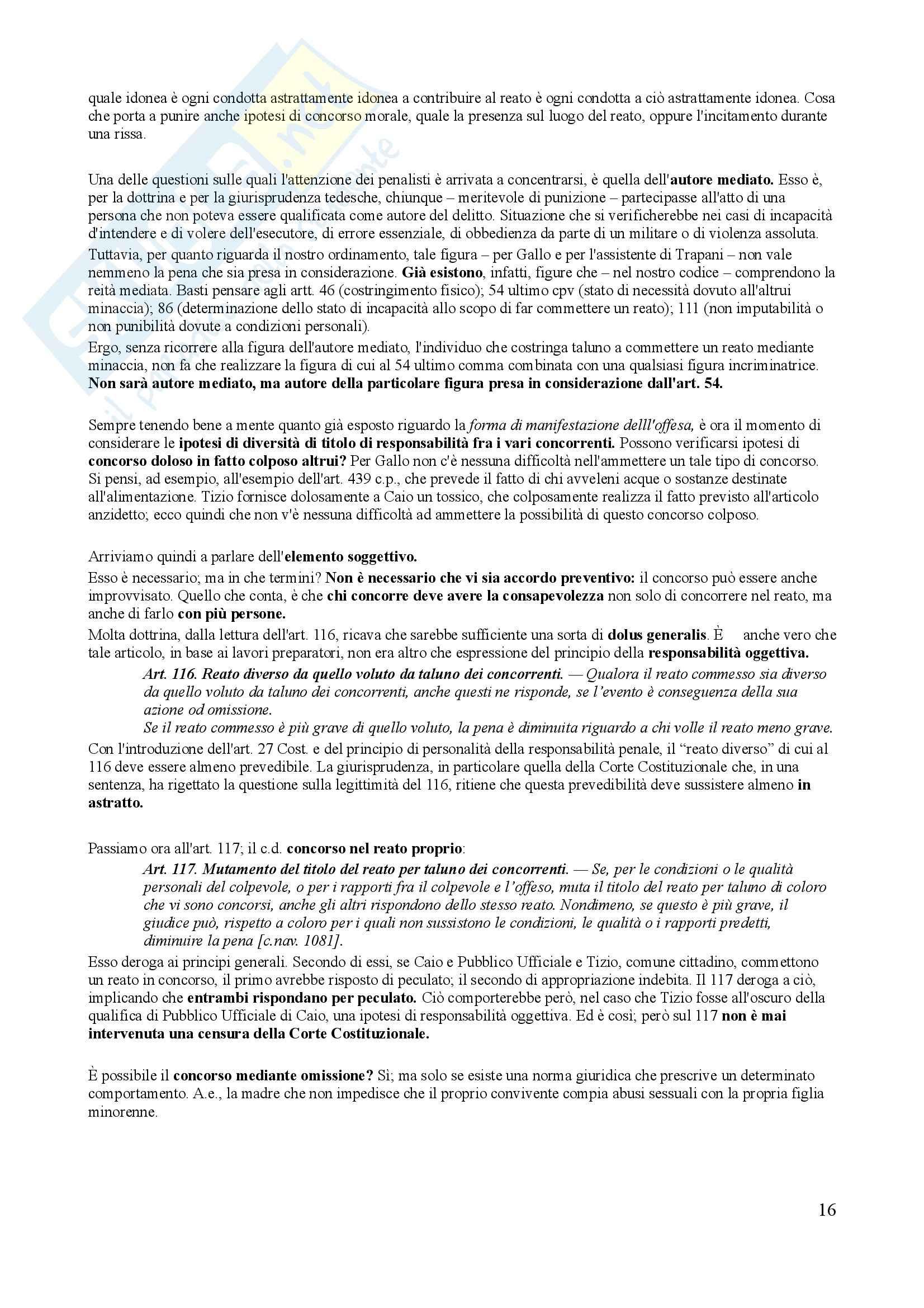 Riassunto esame Diritto Penale, prof. Trapani, libro consigliato Diritto Penale, Gallo - quarta parte Pag. 16