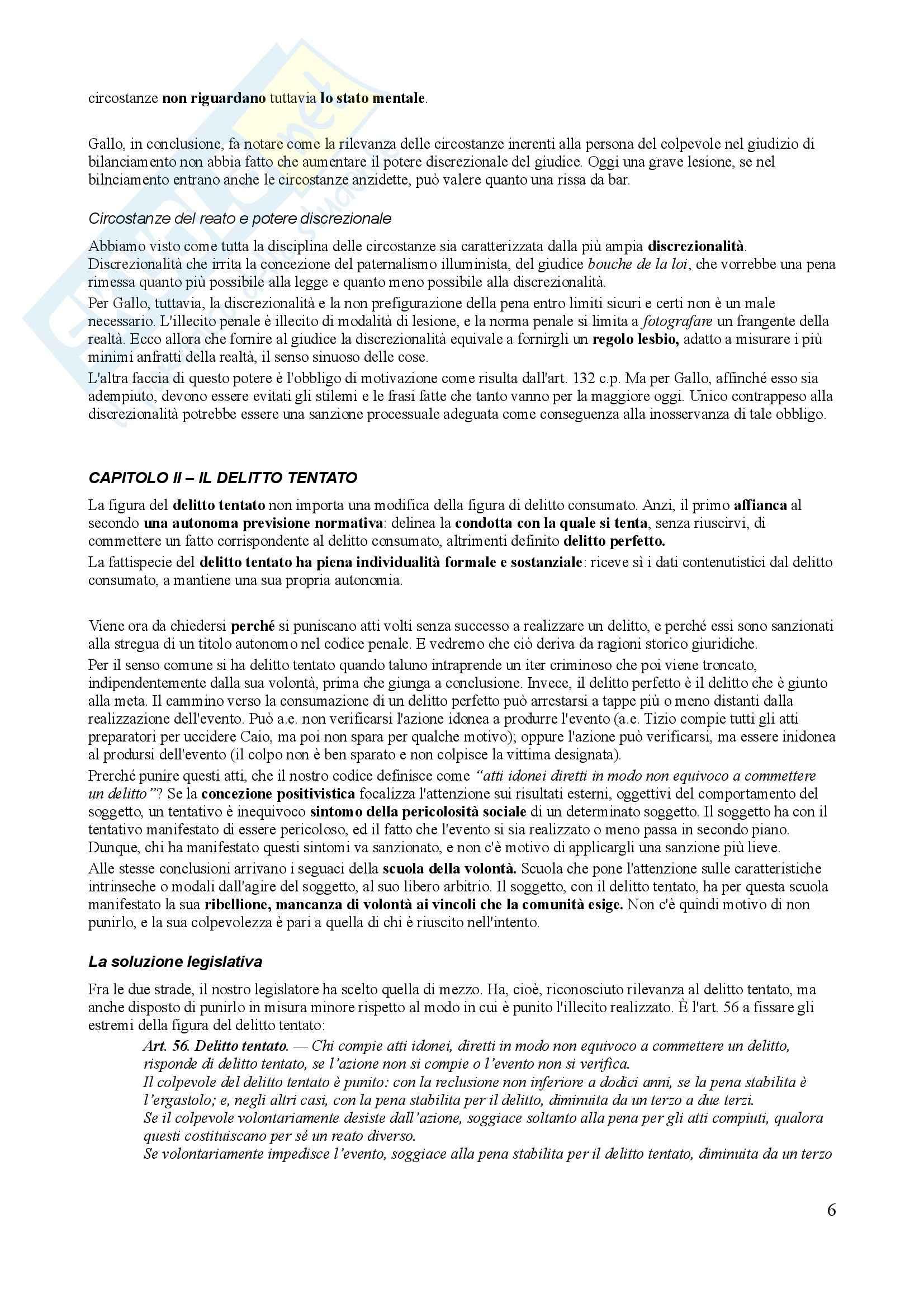 Riassunto esame Diritto Penale, prof. Trapani, libro consigliato Diritto Penale, Gallo - quarta parte Pag. 6