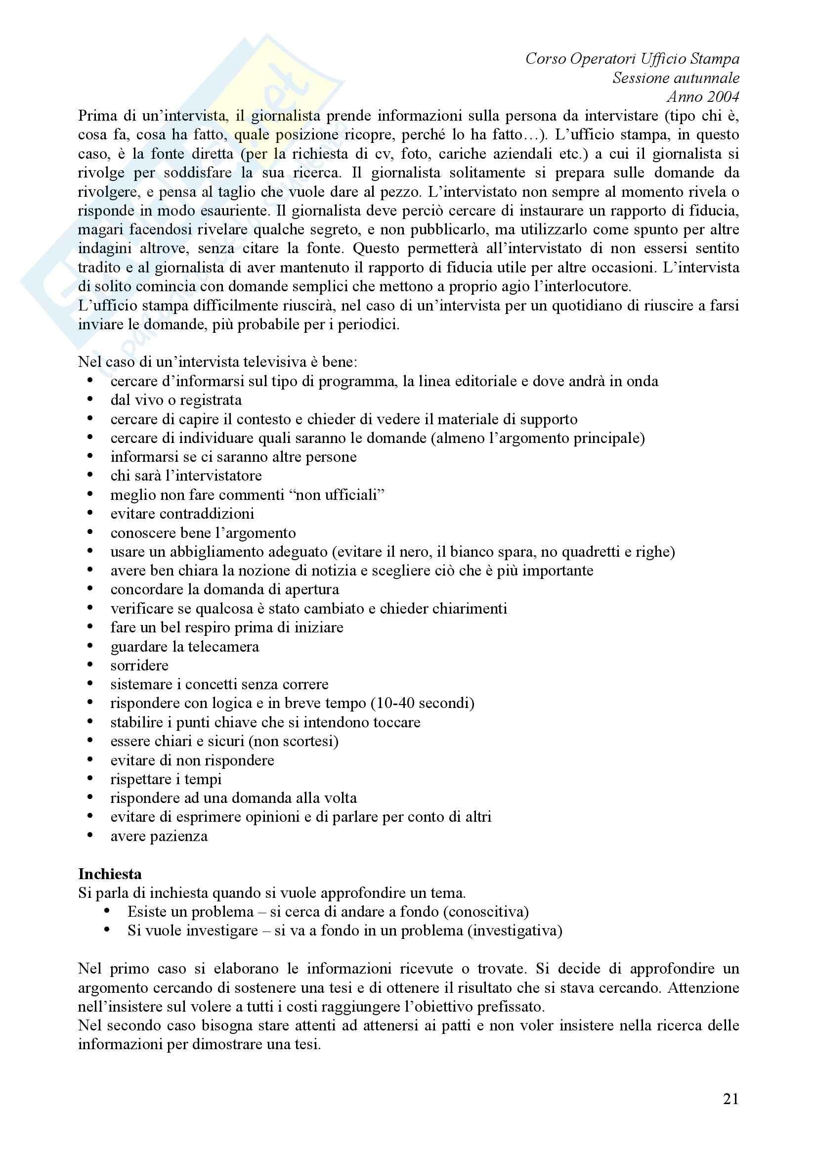 comunicazione pubblica - L'ufficio stampa Pag. 21