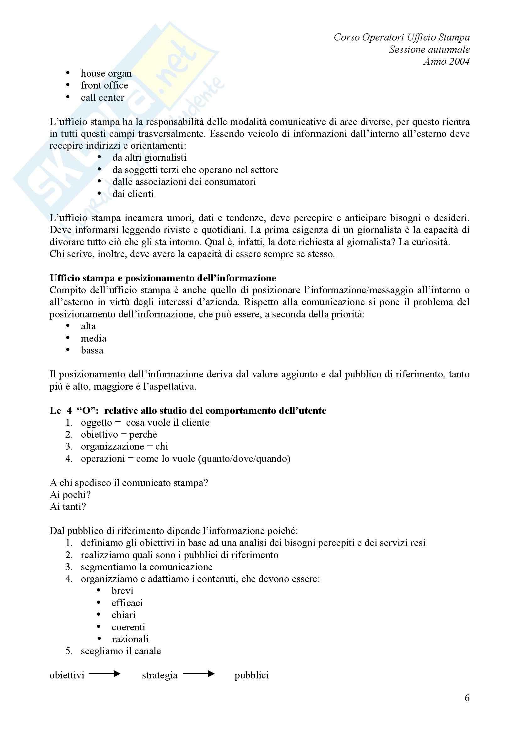 comunicazione pubblica - L'ufficio stampa Pag. 6