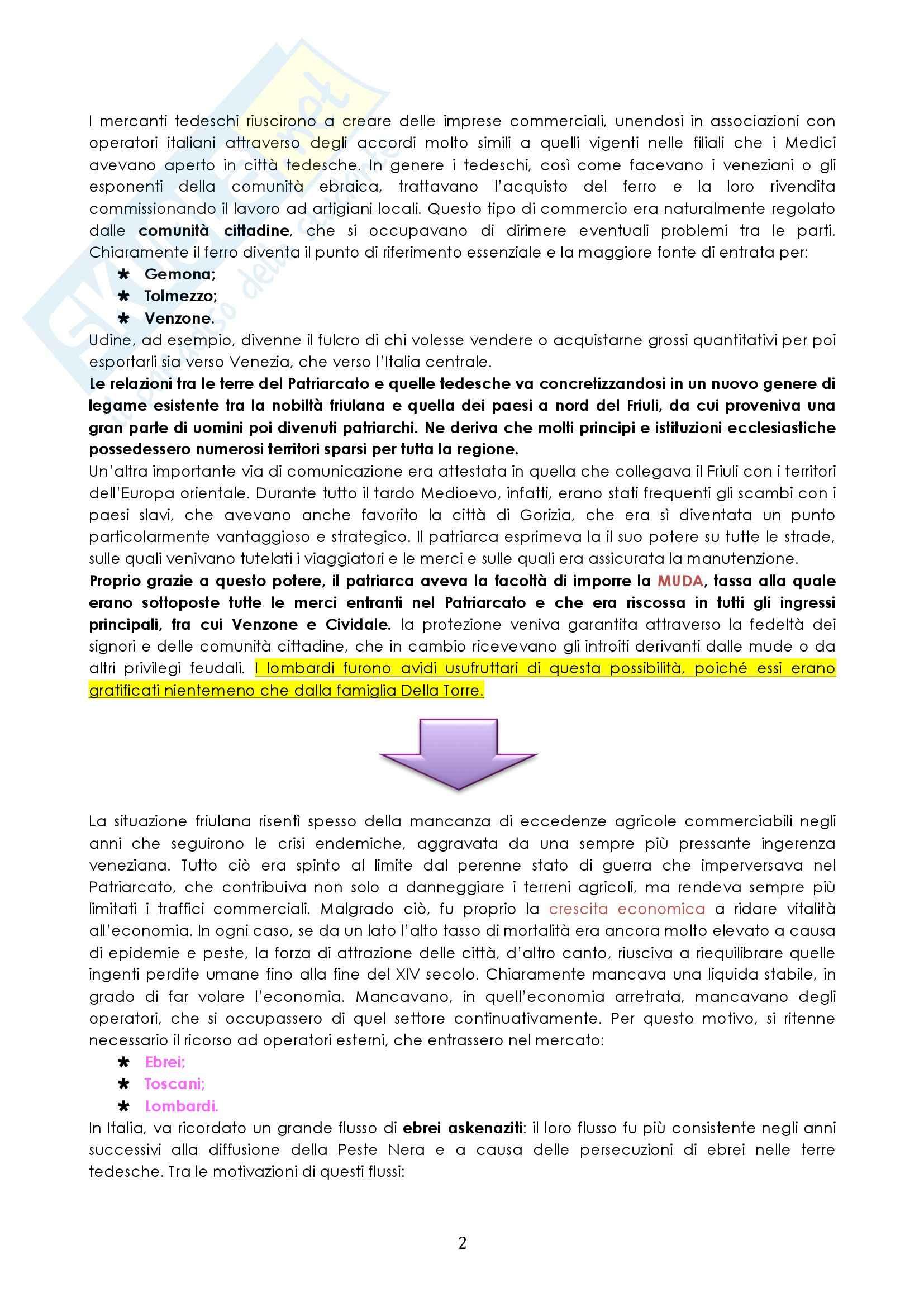 Riassunto esame Storia medievale, prof. Cammarosano, libro consigliato Lombardi in Friuli, Davide Pag. 2