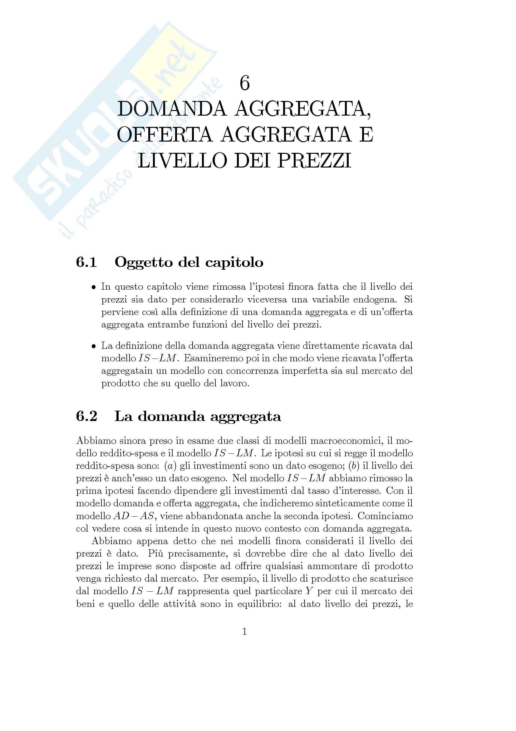 Economia finanziaria - domanda e offerta aggregata