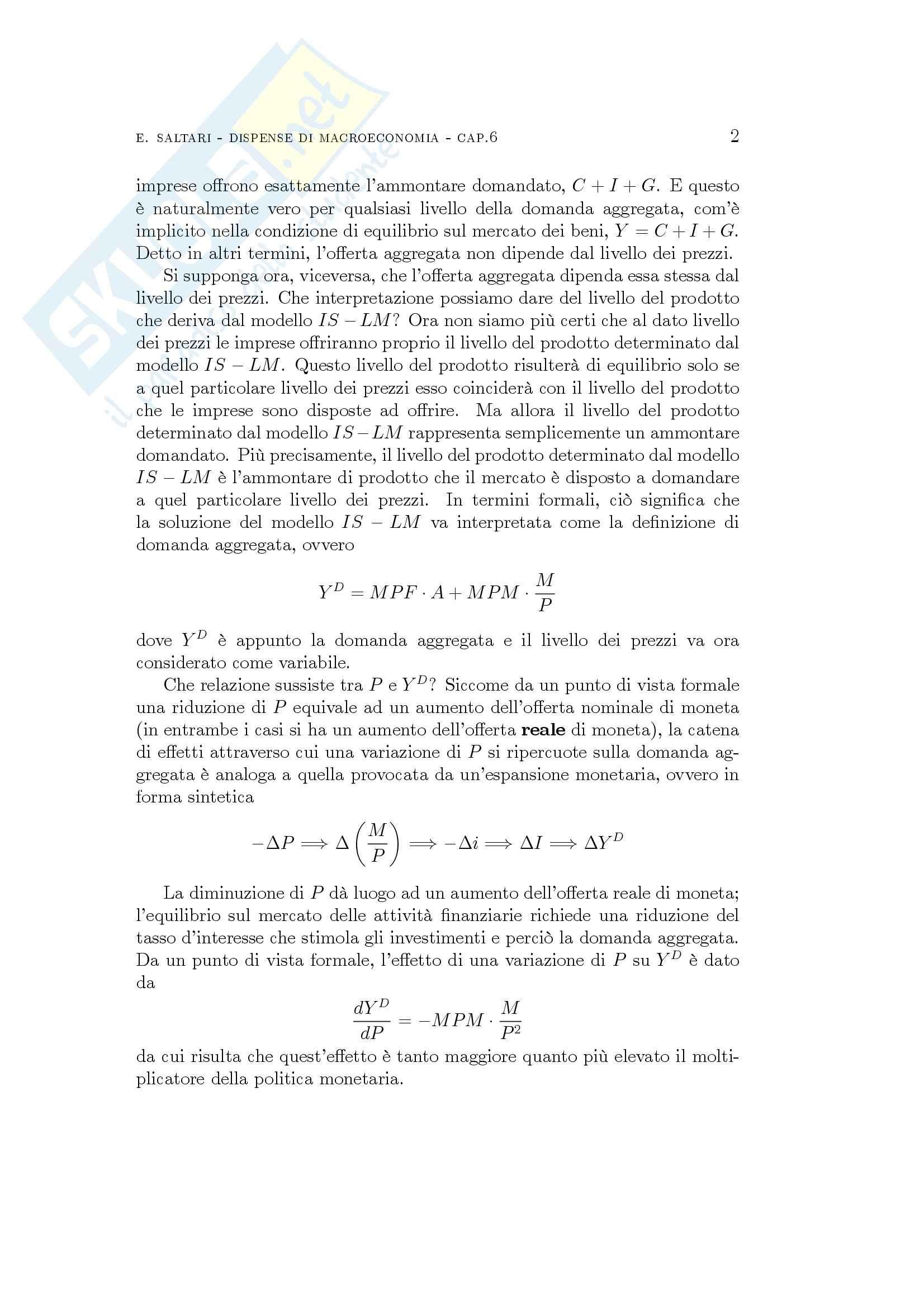 Economia finanziaria - domanda e offerta aggregata Pag. 2
