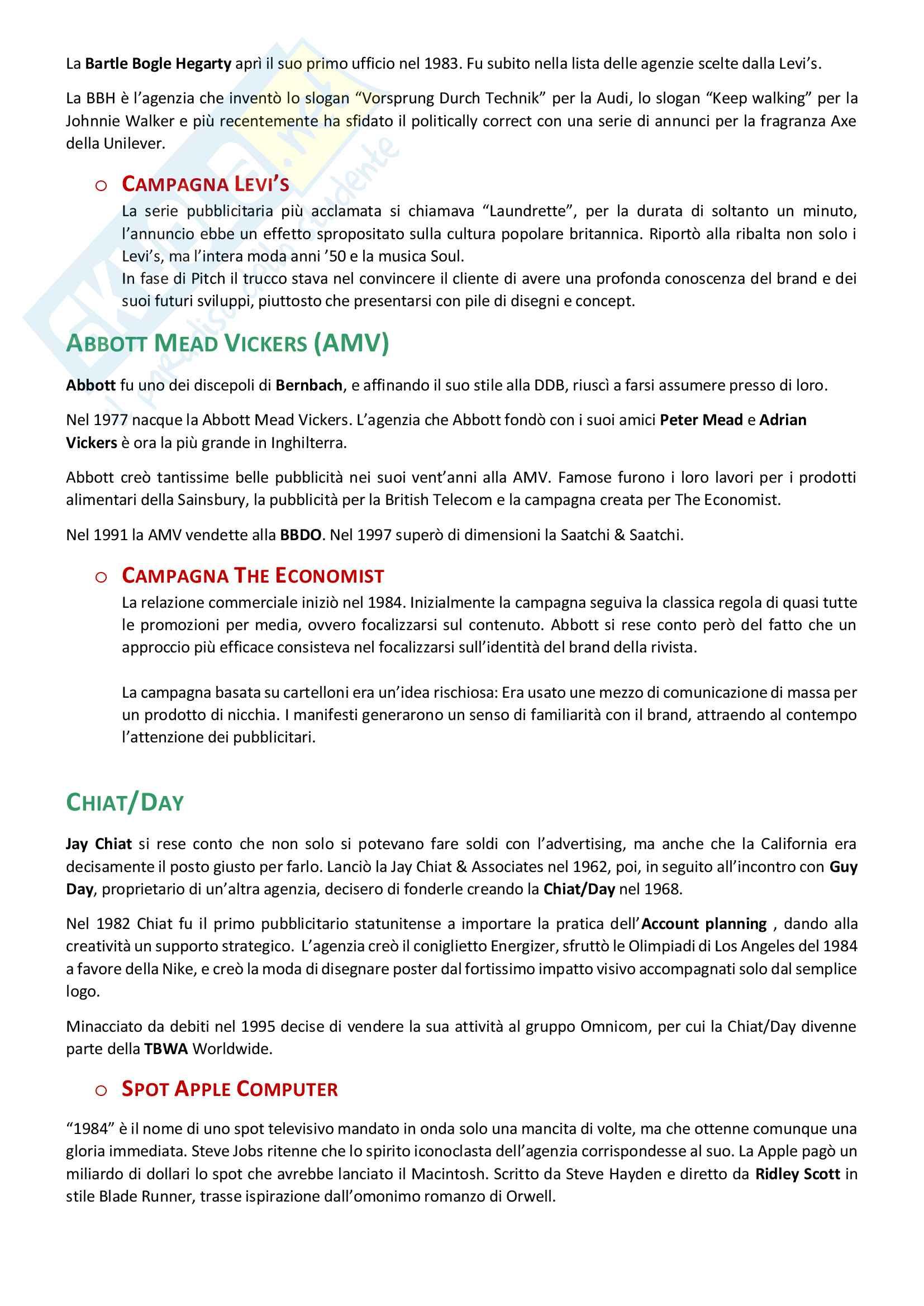 Appunti esame: Strategie della comunicazione pubblicitaria Pag. 11