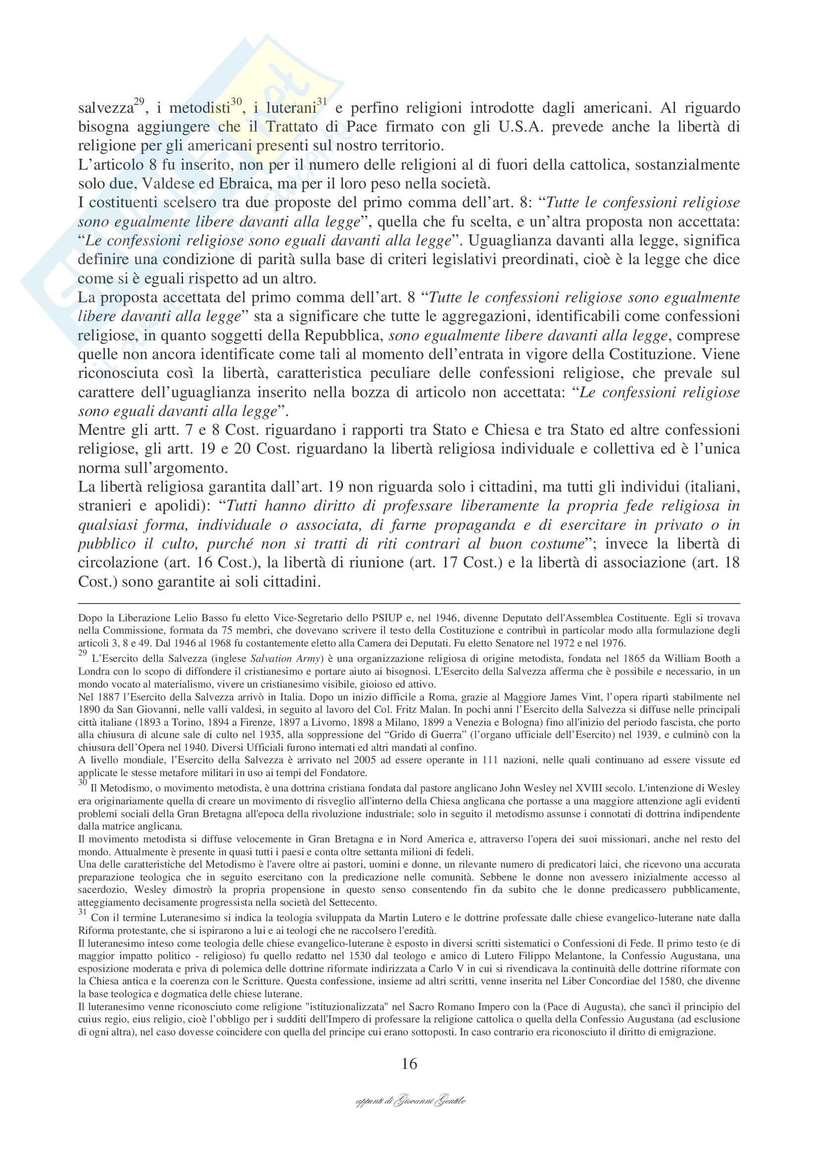 Diritto ecclesiastico - Appunti Pag. 16