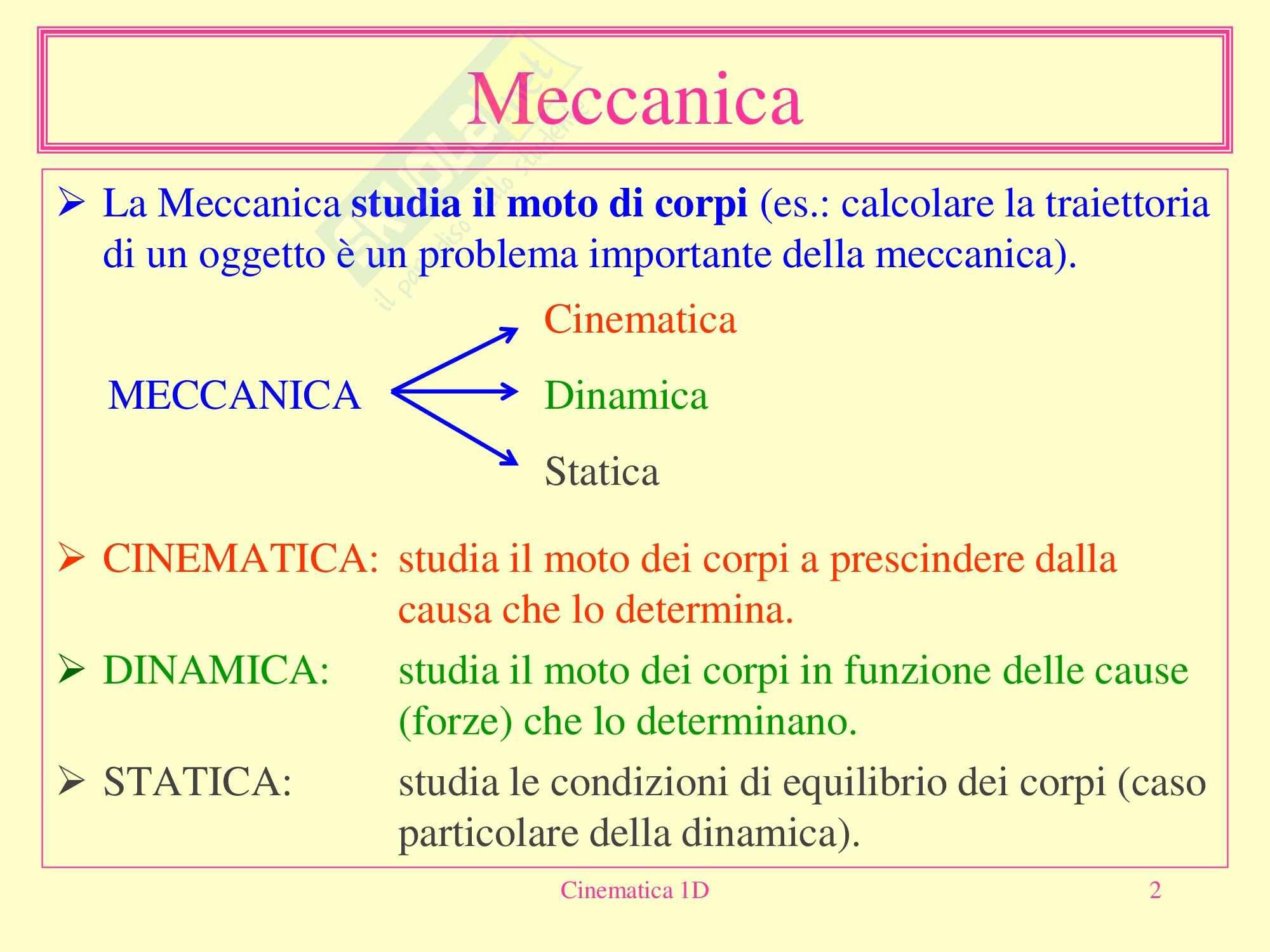 Fisica medica - Cinematica Pag. 2