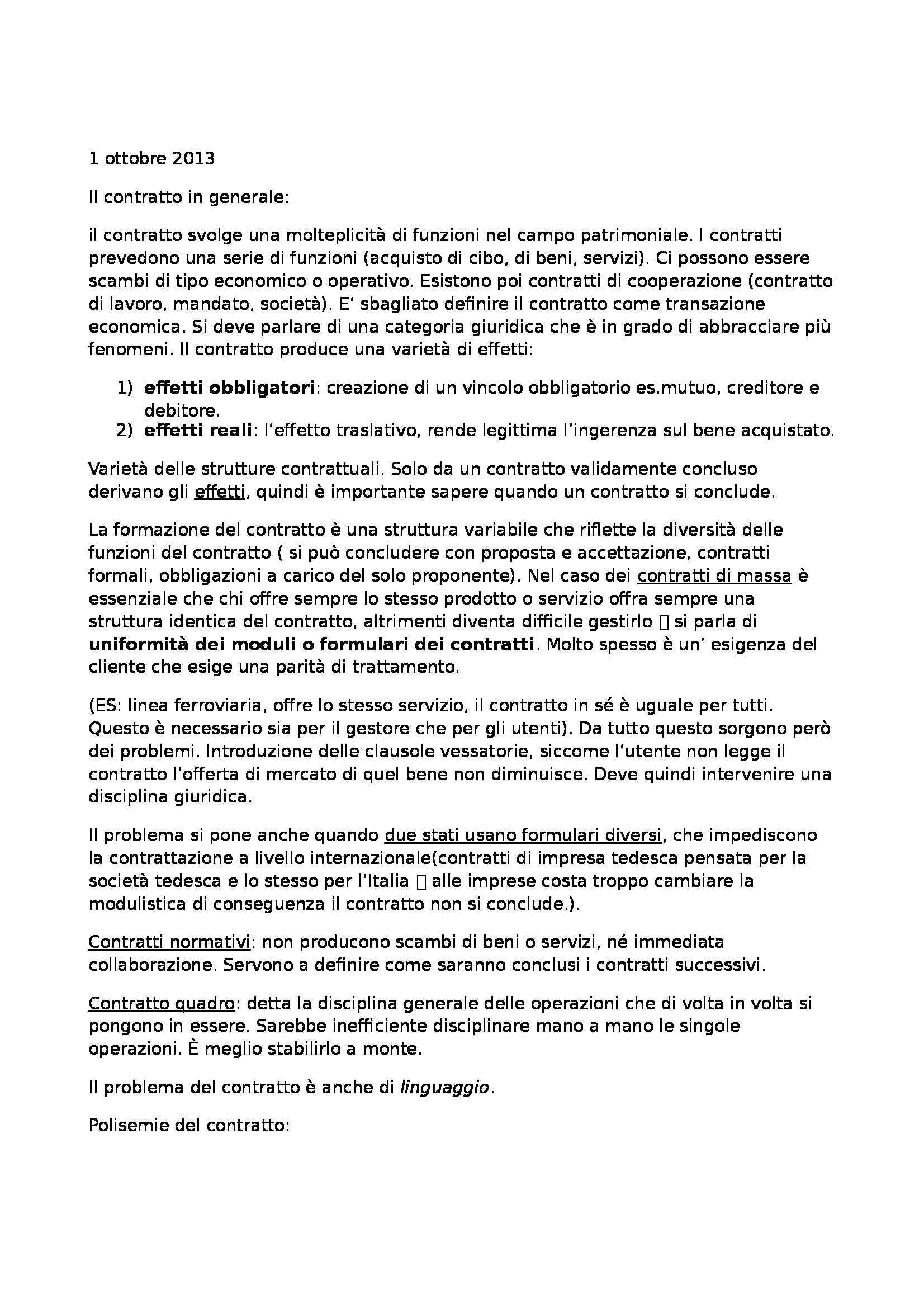 Diritto civile I - Lezioni e appunti