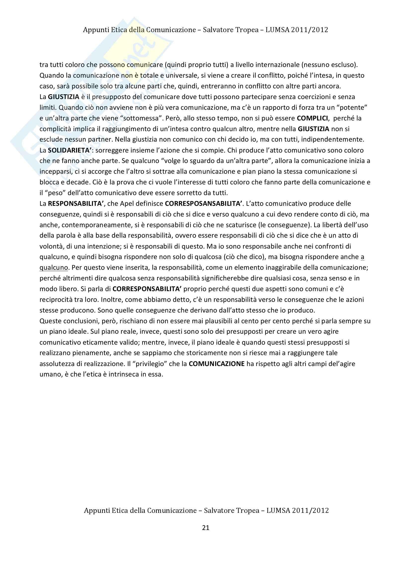 Lezioni, Etica della Comunicazione Pag. 21