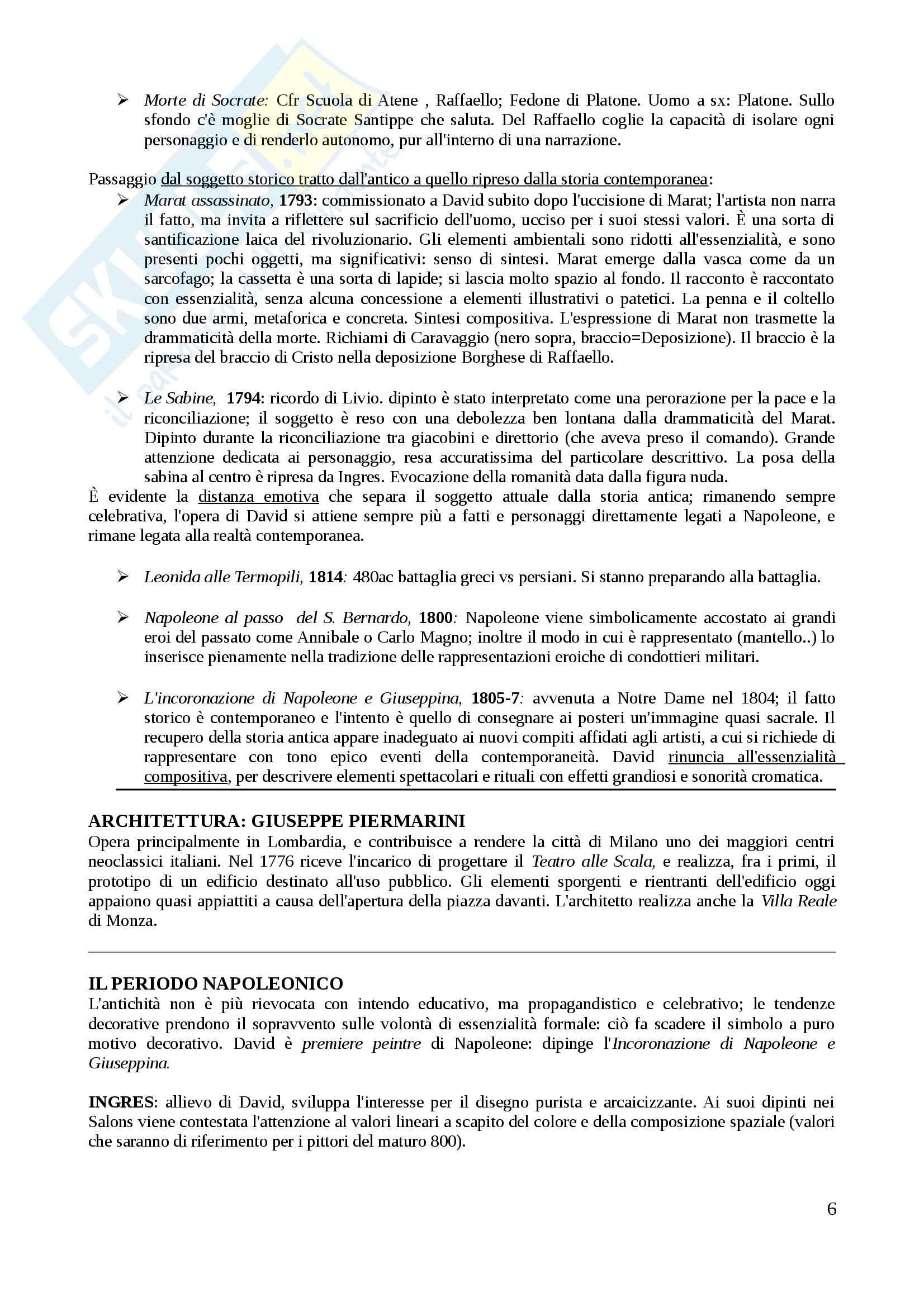 Riassunto esame arte contemporanea, docente Di Raddo, libro consigliato: De Vecchi, Cerchiari: Arte nel tempo vol III Pag. 6
