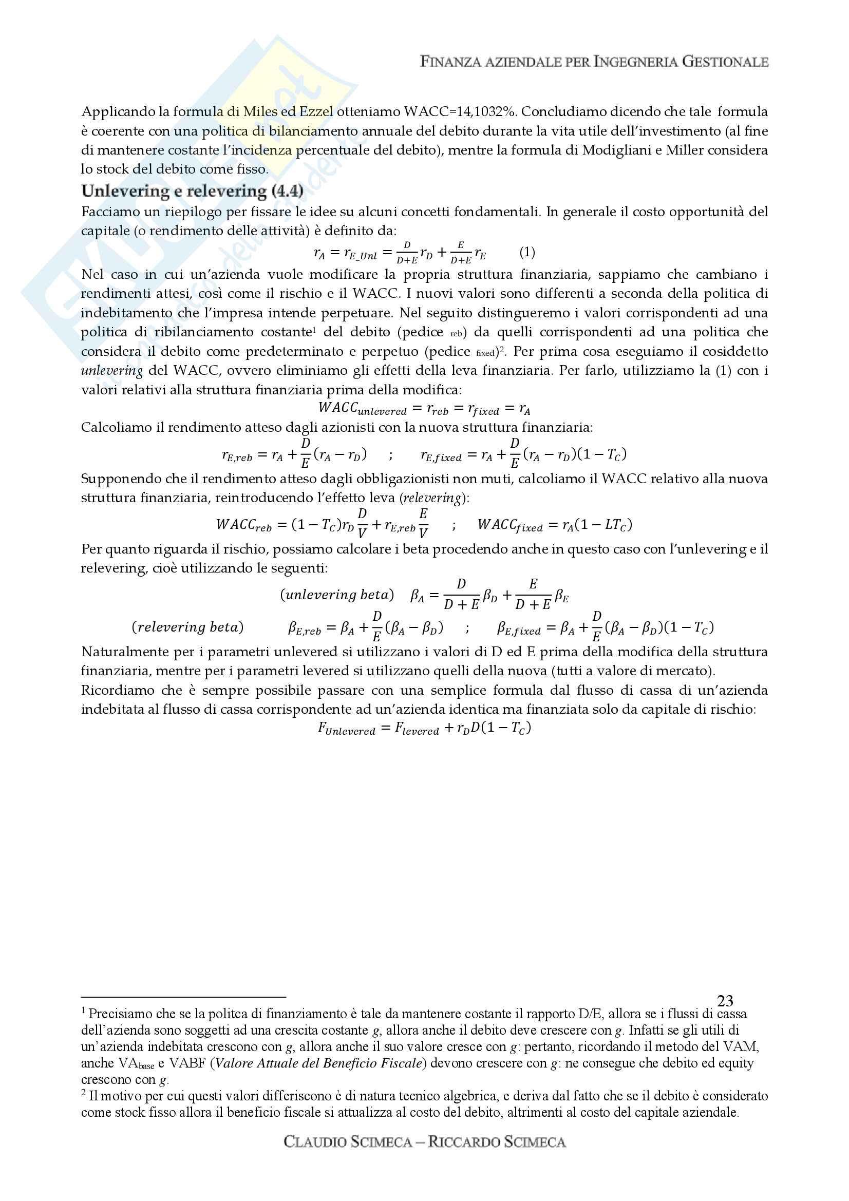 Finanza aziendale Pag. 26