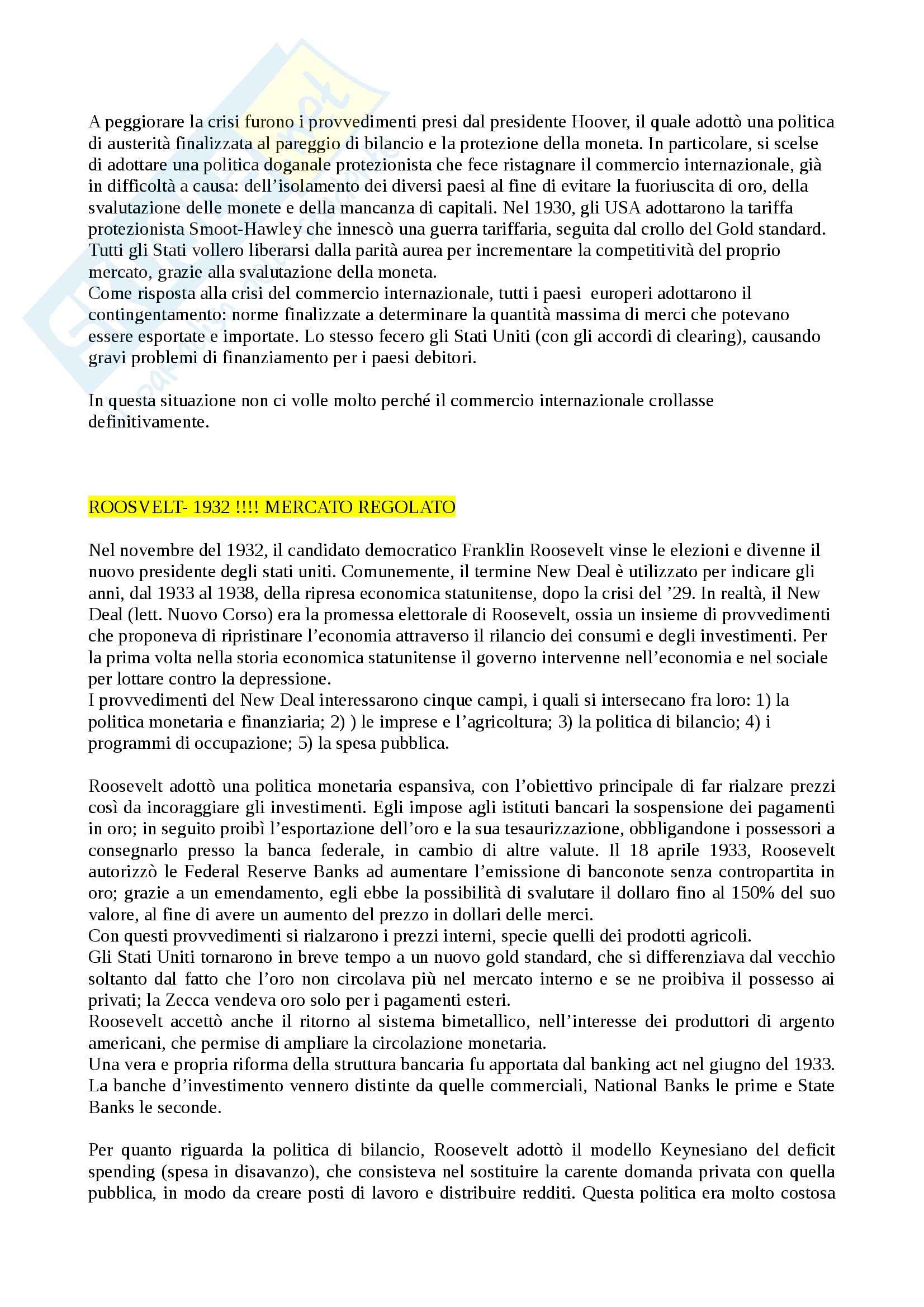 Riassunto esame Storia Economica, Prof. Carera, libri consigliati Introduzione alla storia economica mondiale, Feli e L'Italia Economica, Pecorari Pag. 36