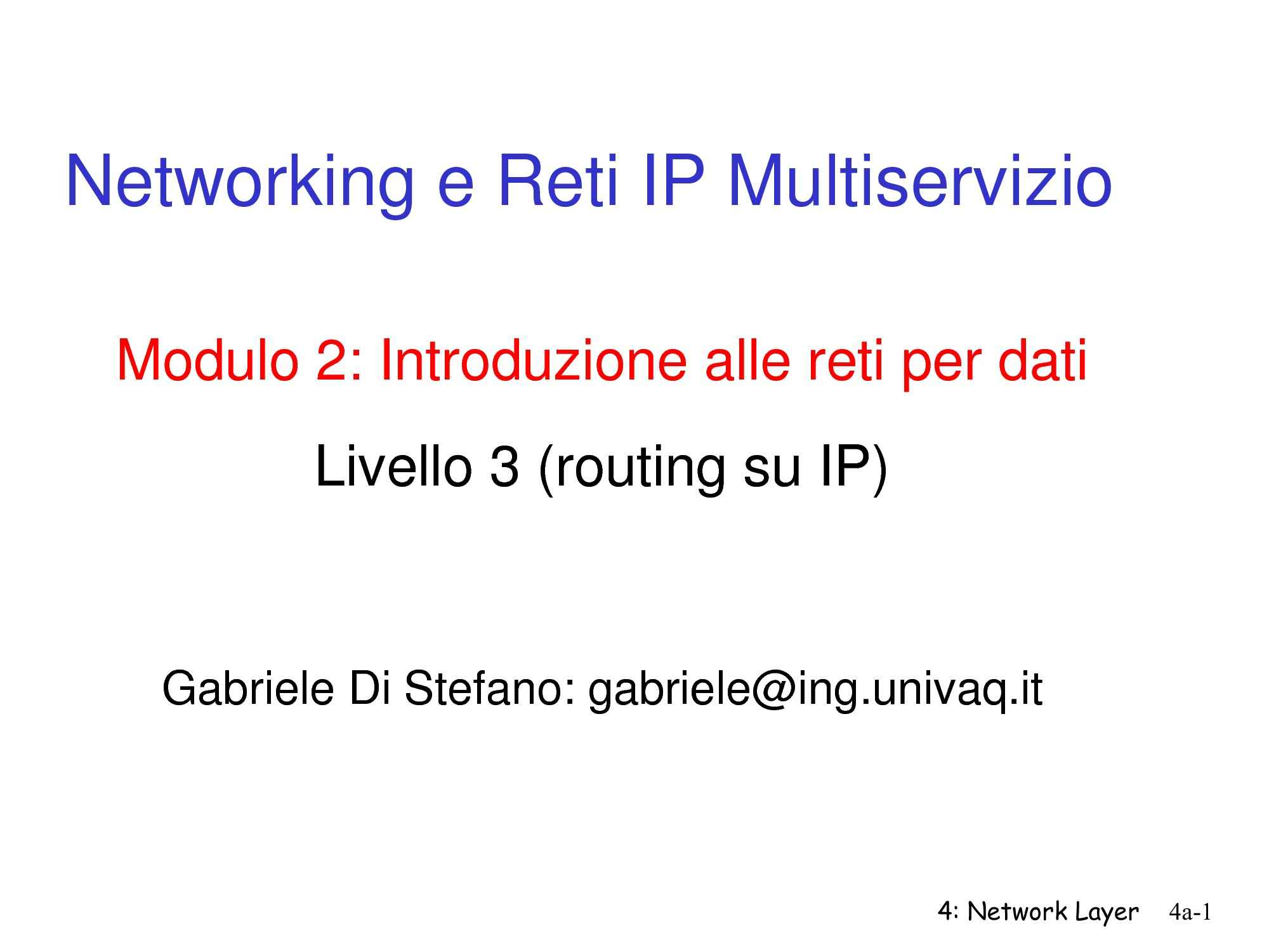 Networking, Reti IP, Routing