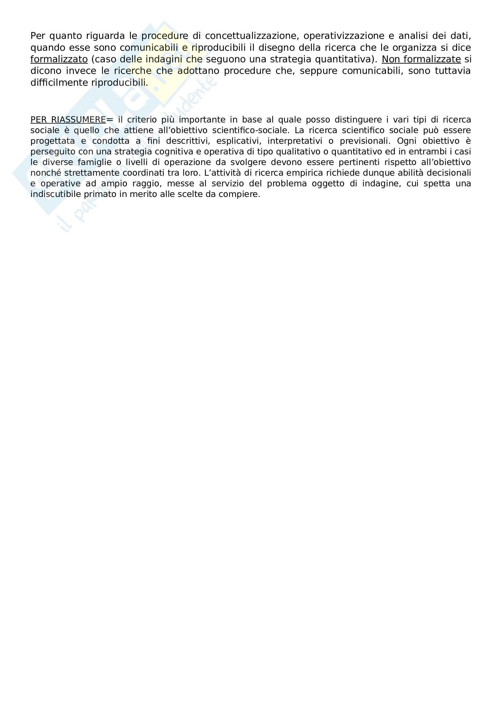 Riassunto esame metodologia della ricerca sociale, Prof Nobile, Prof Fasanella, libro consigliato Il disegno della ricerca sociale Pag. 21