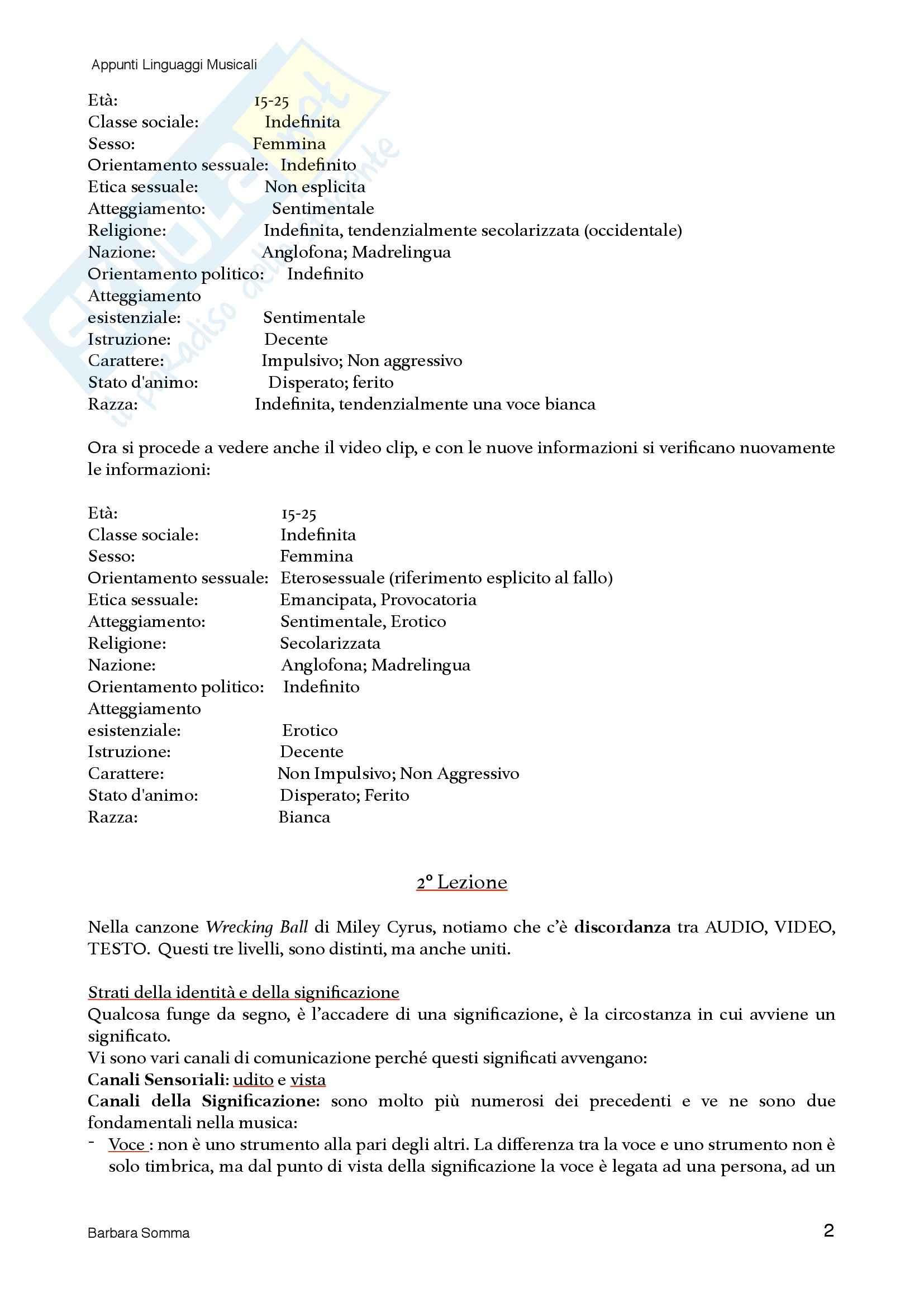 Linguaggi Musicali - nozioni Pag. 2