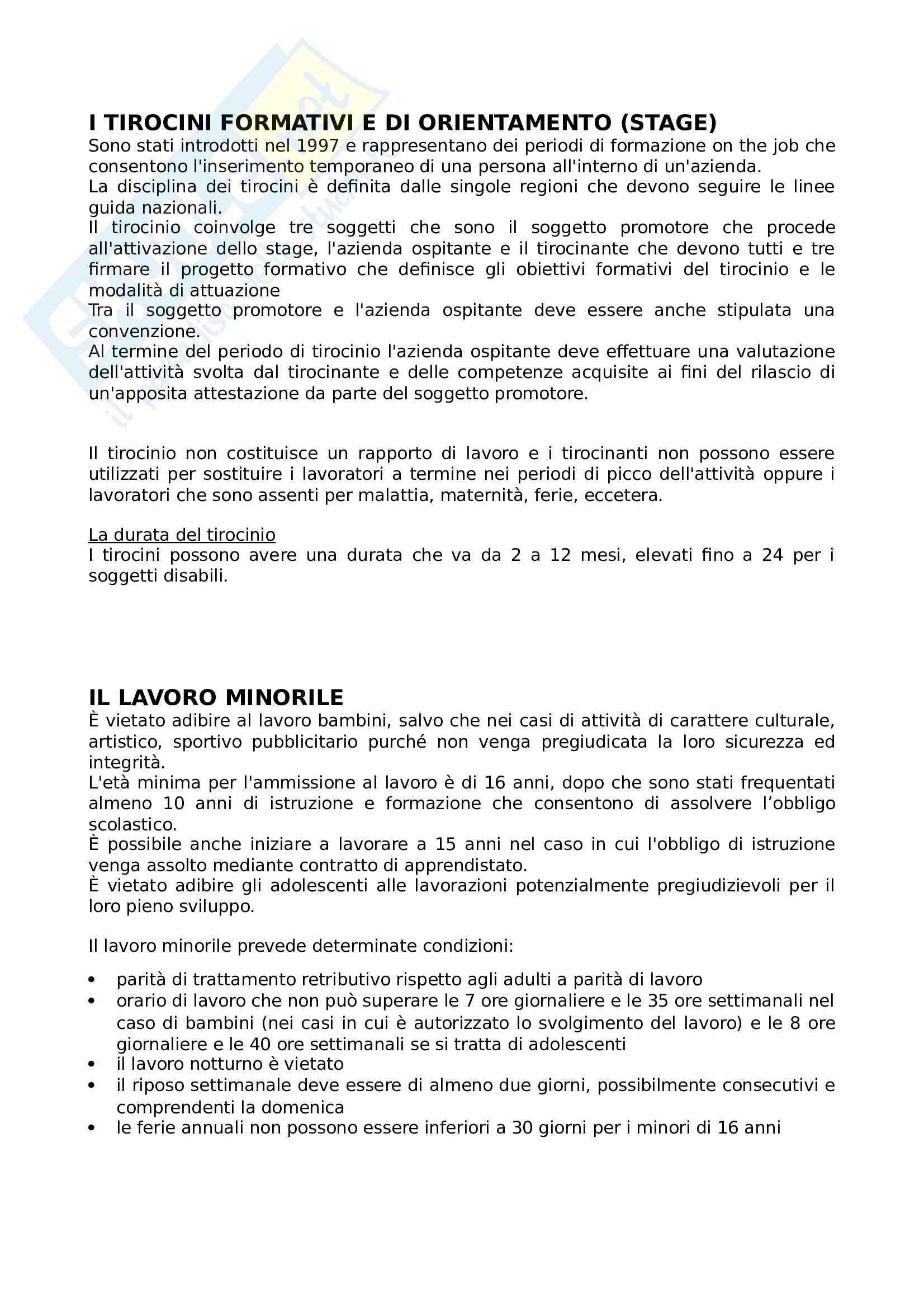 contratti di lavoro diritto di lavoro Pag. 11