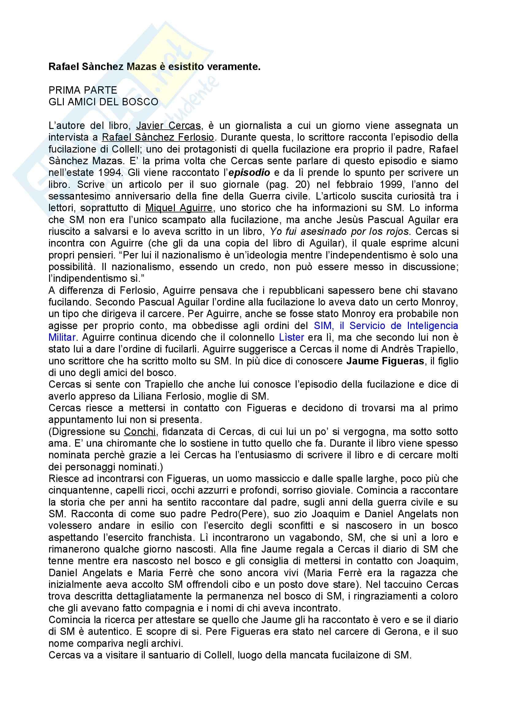 appunto P. Rigobon Letteratura Spagnola