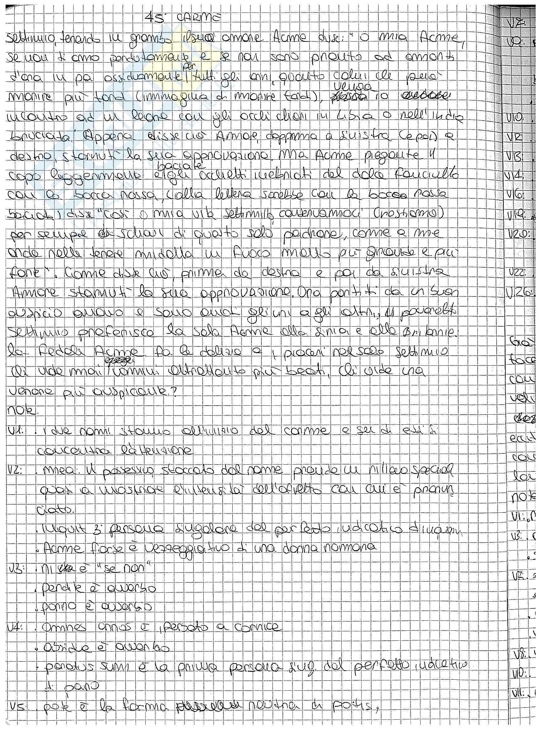 Analisi, traduzione e paradigmi dei carmina di Catullo Pag. 16