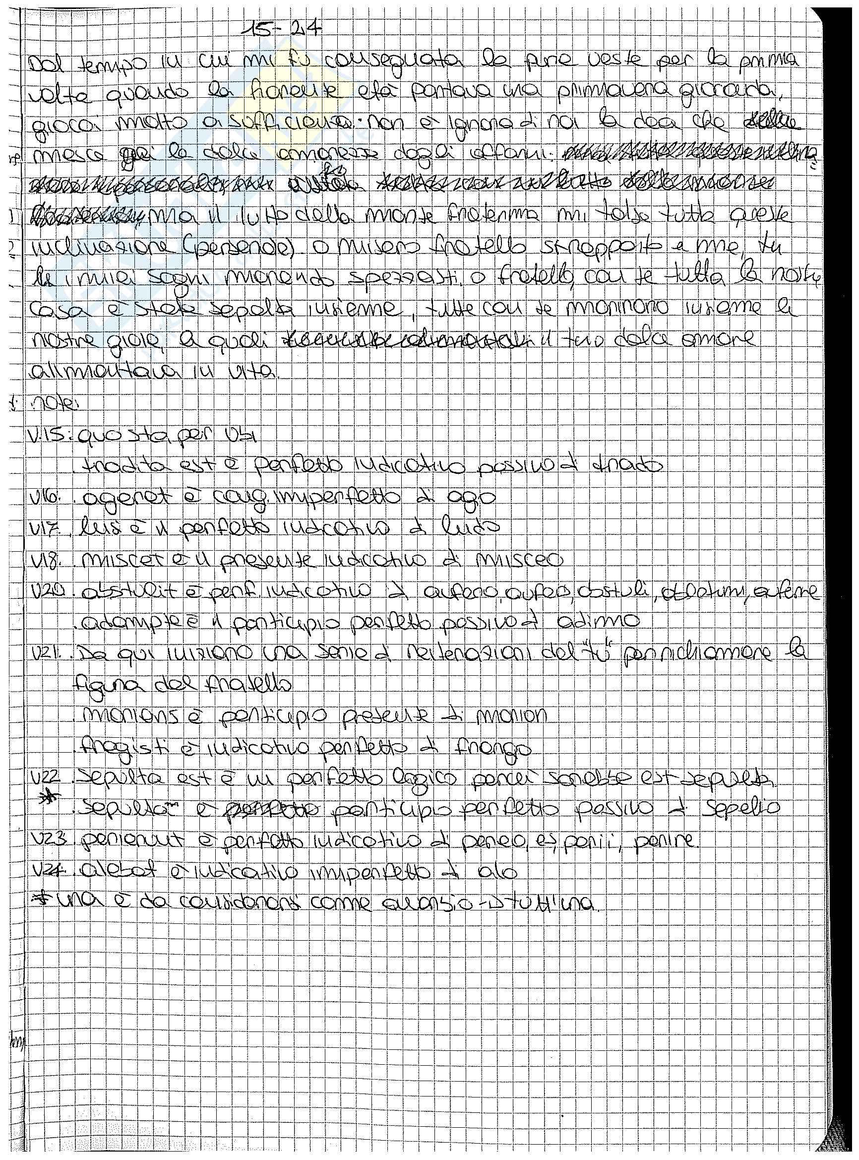 Analisi, traduzione e paradigmi dei carmina di Catullo Pag. 31