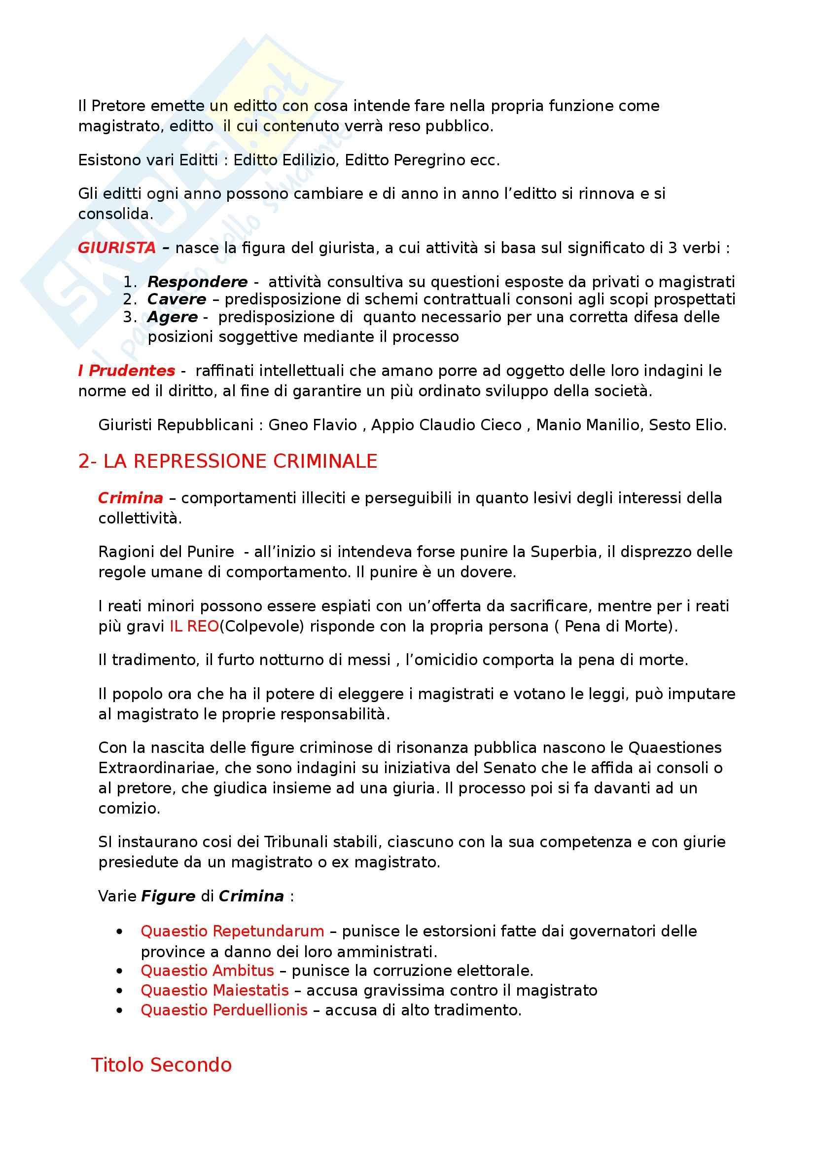 Riassunto esame Diritto Privato Romano, prof. Cuneo Pag. 2