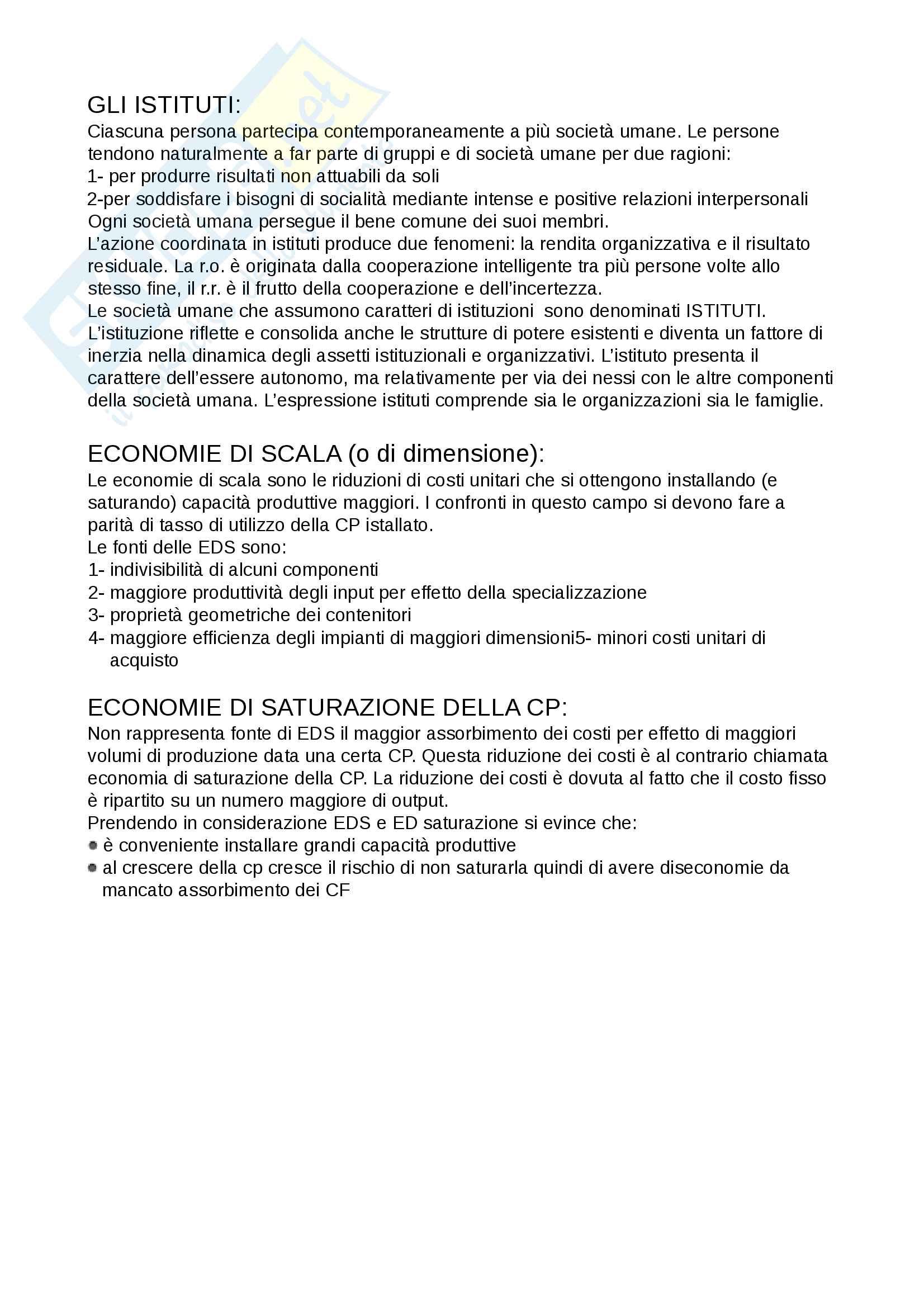 Riassunto per l'esame di Economia aziendale, prof Parolini, libro consigliato Airoldi, Brunetti Coda Pag. 2