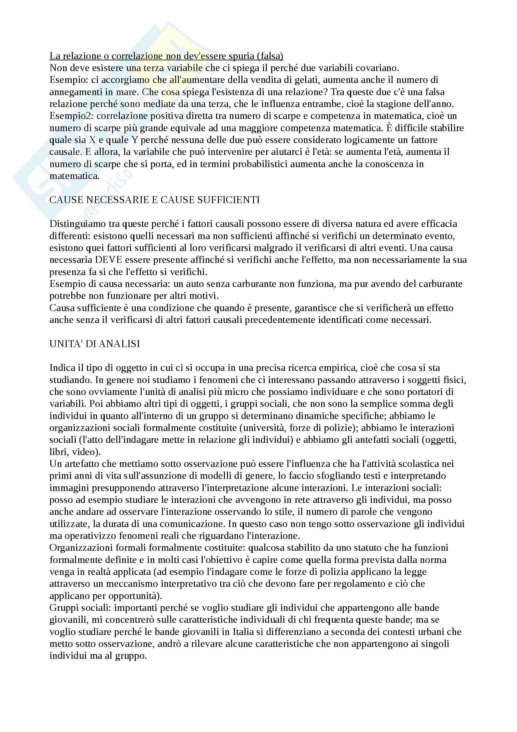 Metodologia della ricerca sociale e dell'indagine criminologica - Appunti Pag. 11