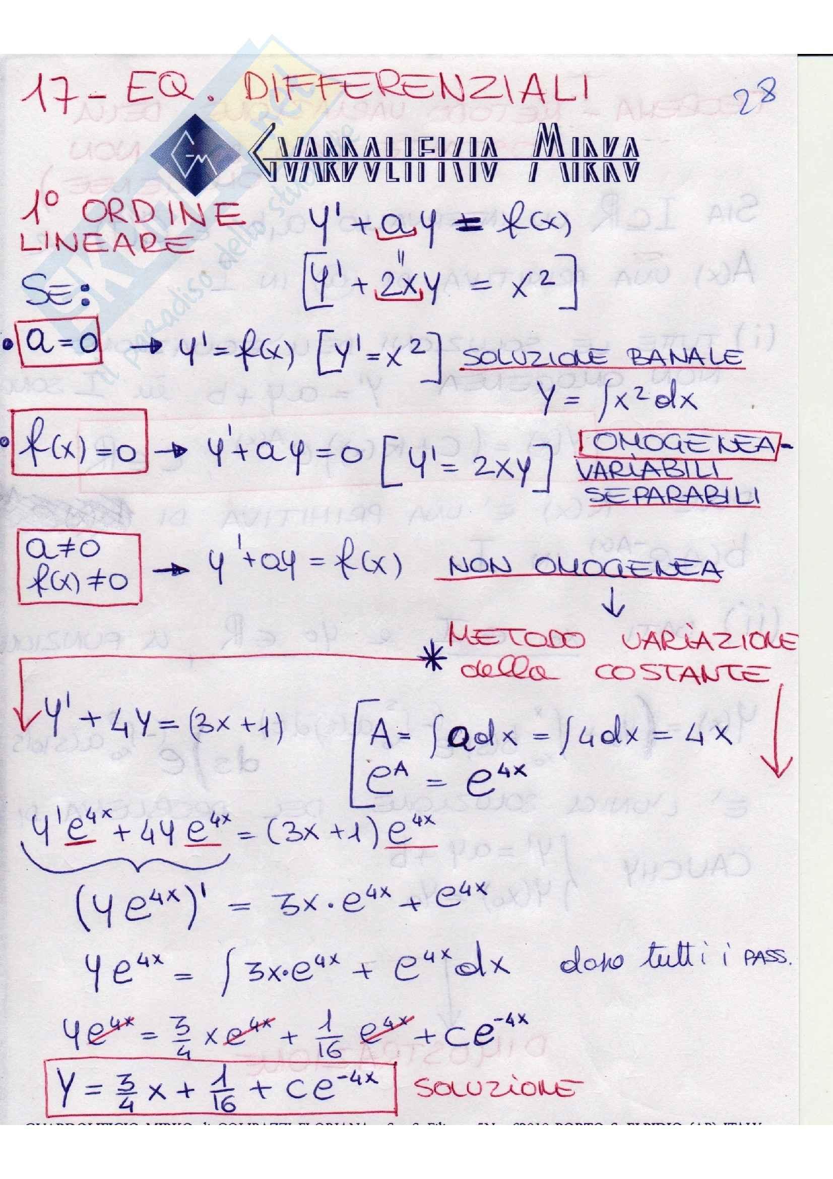 Analisi matematica - teoremi Pag. 2