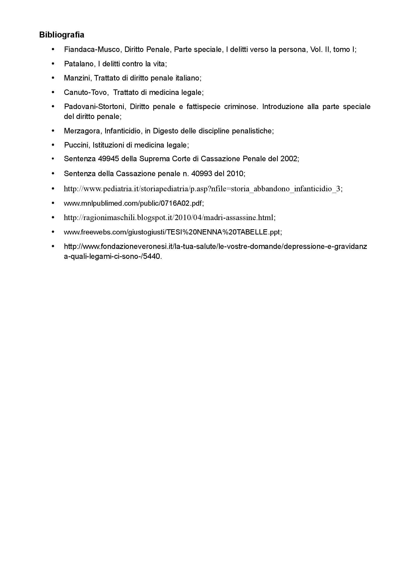 Medicina legale e del lavoro - infanticidio Pag. 16