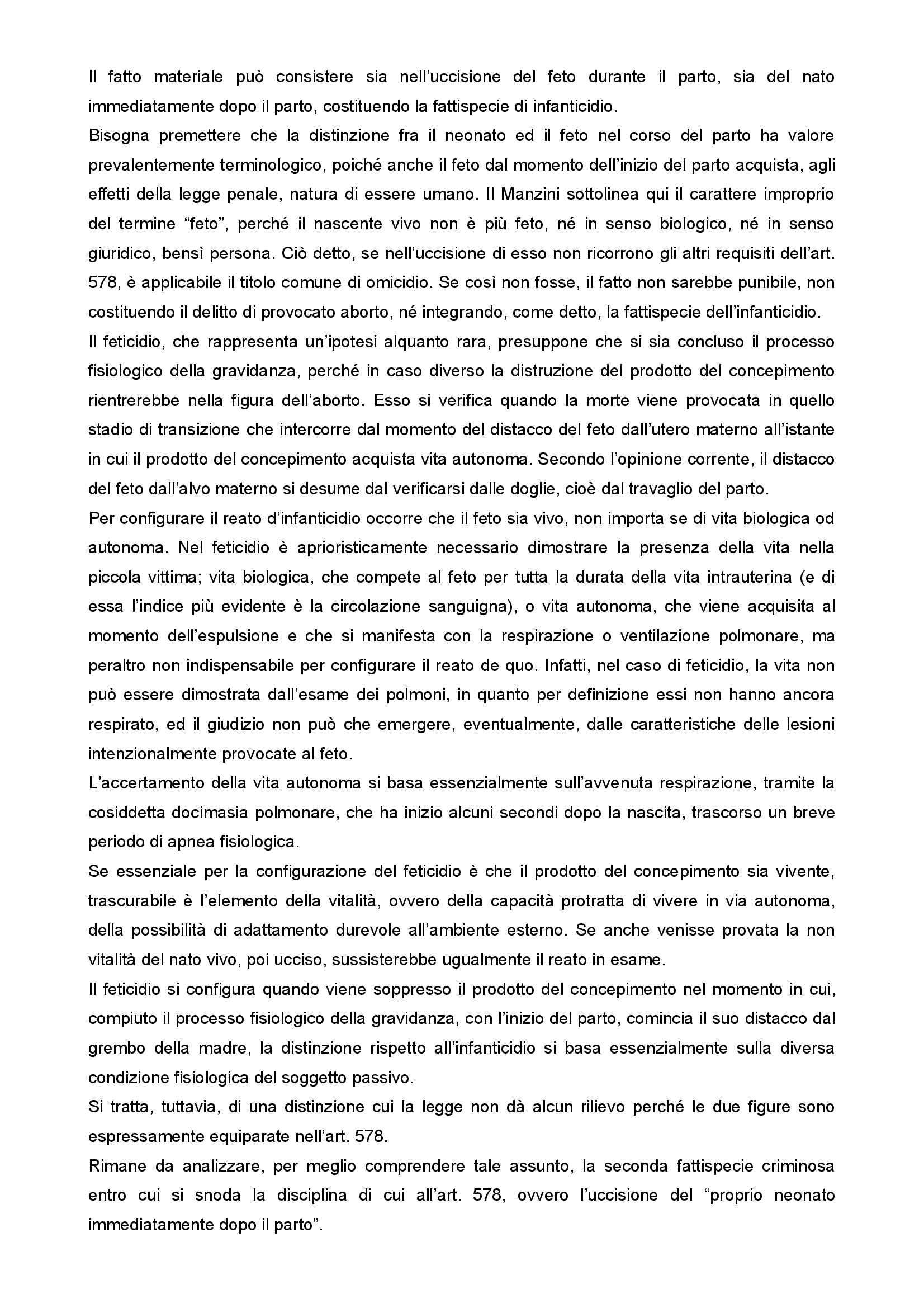 Medicina legale e del lavoro - infanticidio Pag. 6