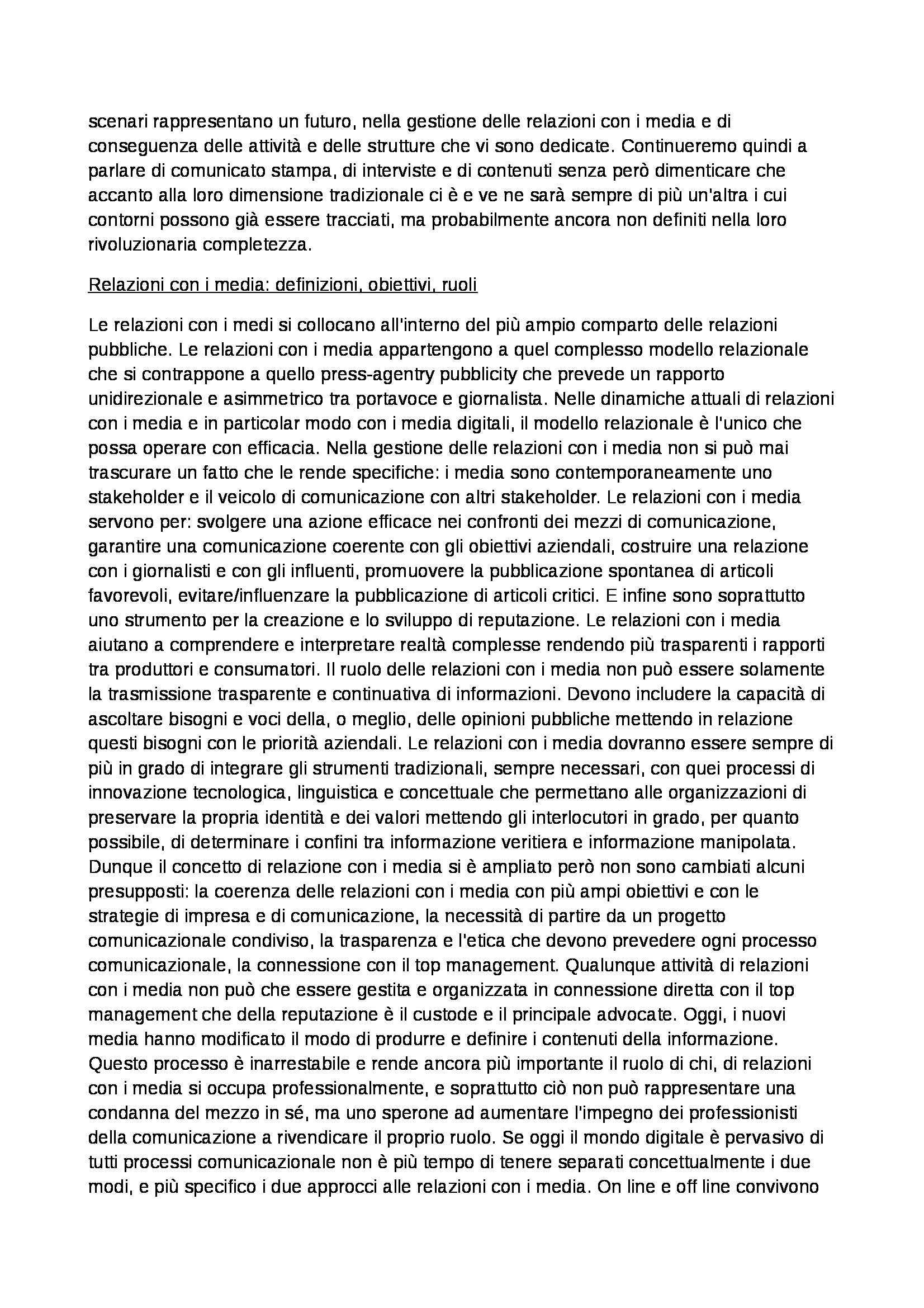 Riassunto esame Relazioni Pubbliche e Comunicazioni d'Impresa, prof. Invernizzi Pag. 61