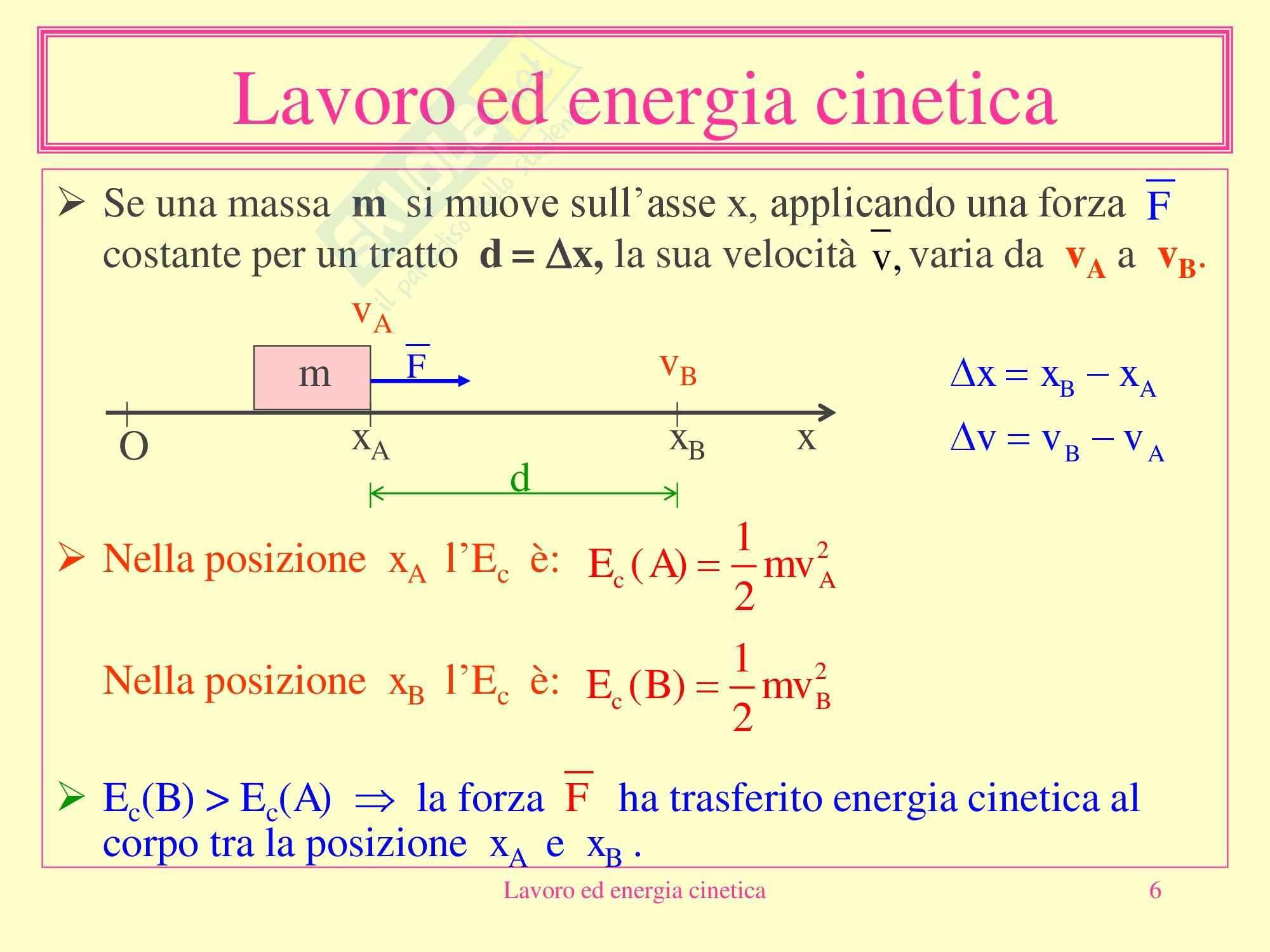Fisica medica - Lavoro ed energia cinetica Pag. 6