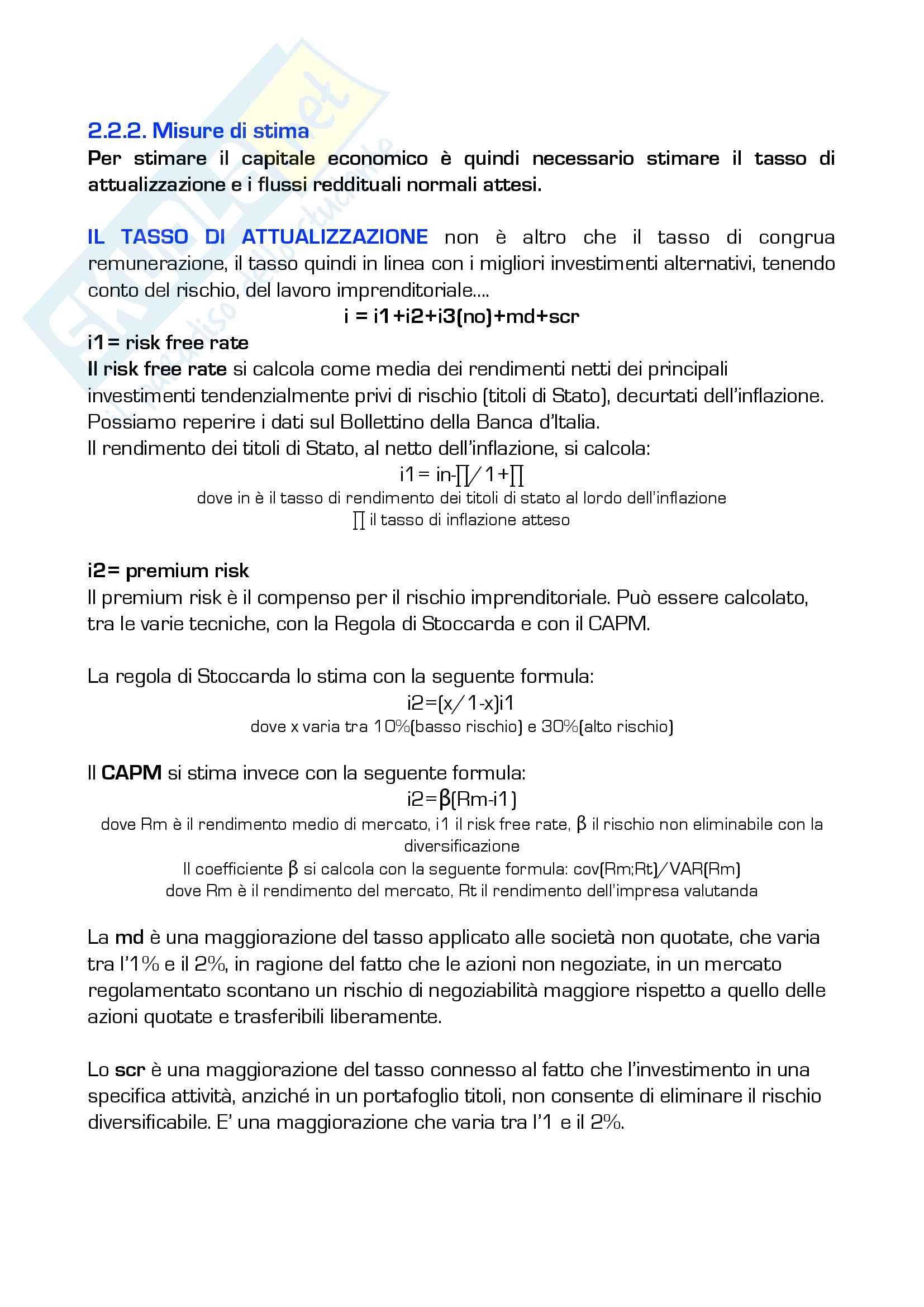 Valutazione d'azienda Pag. 6
