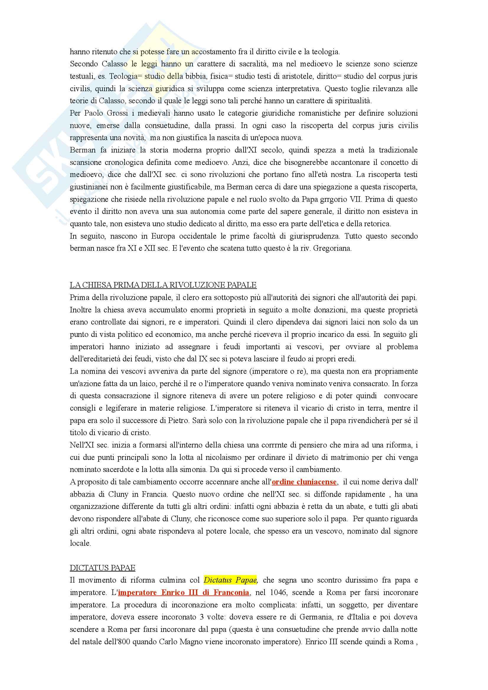 Appunti Storia del diritto medievale e moderno I Pag. 21