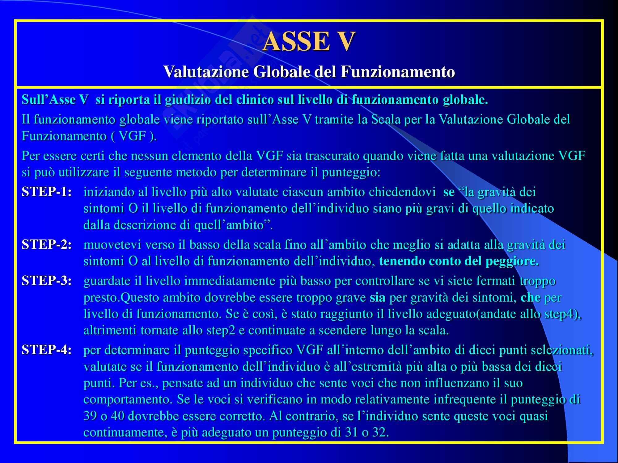 Psichiatria - classificazione DSM-IV Pag. 6