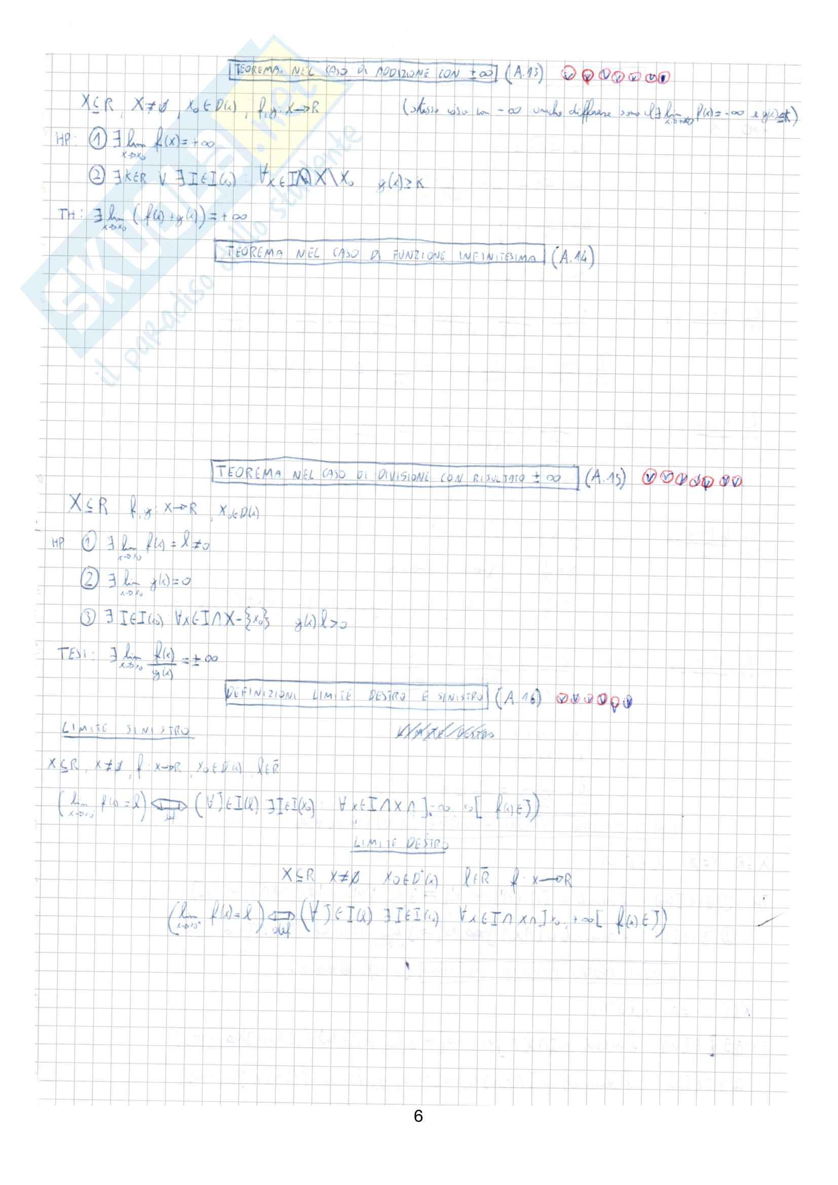 Appunti completi di Matematica generale Pag. 6