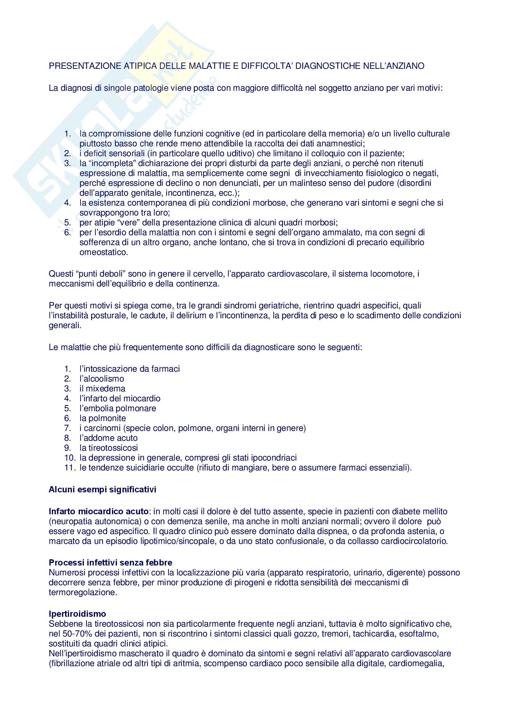 Geriatria-Patologie geriatriche