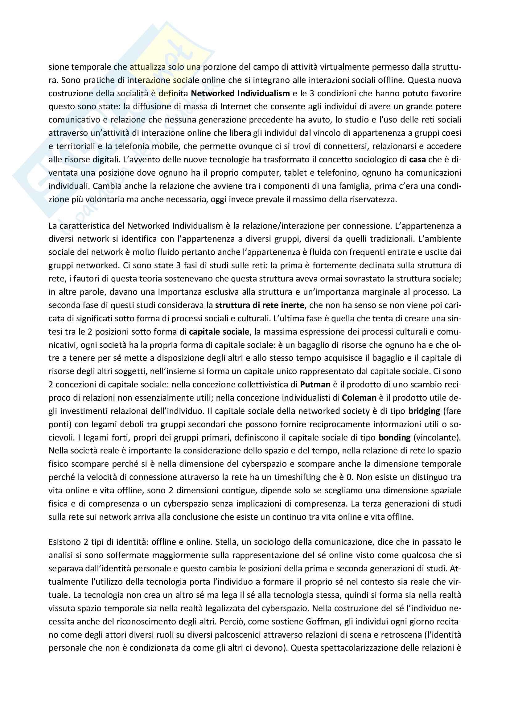 Riassunto esame Sociologia dei processi culturali, prof. Scarcia, materiale consigliato: slide + dispense Pag. 6