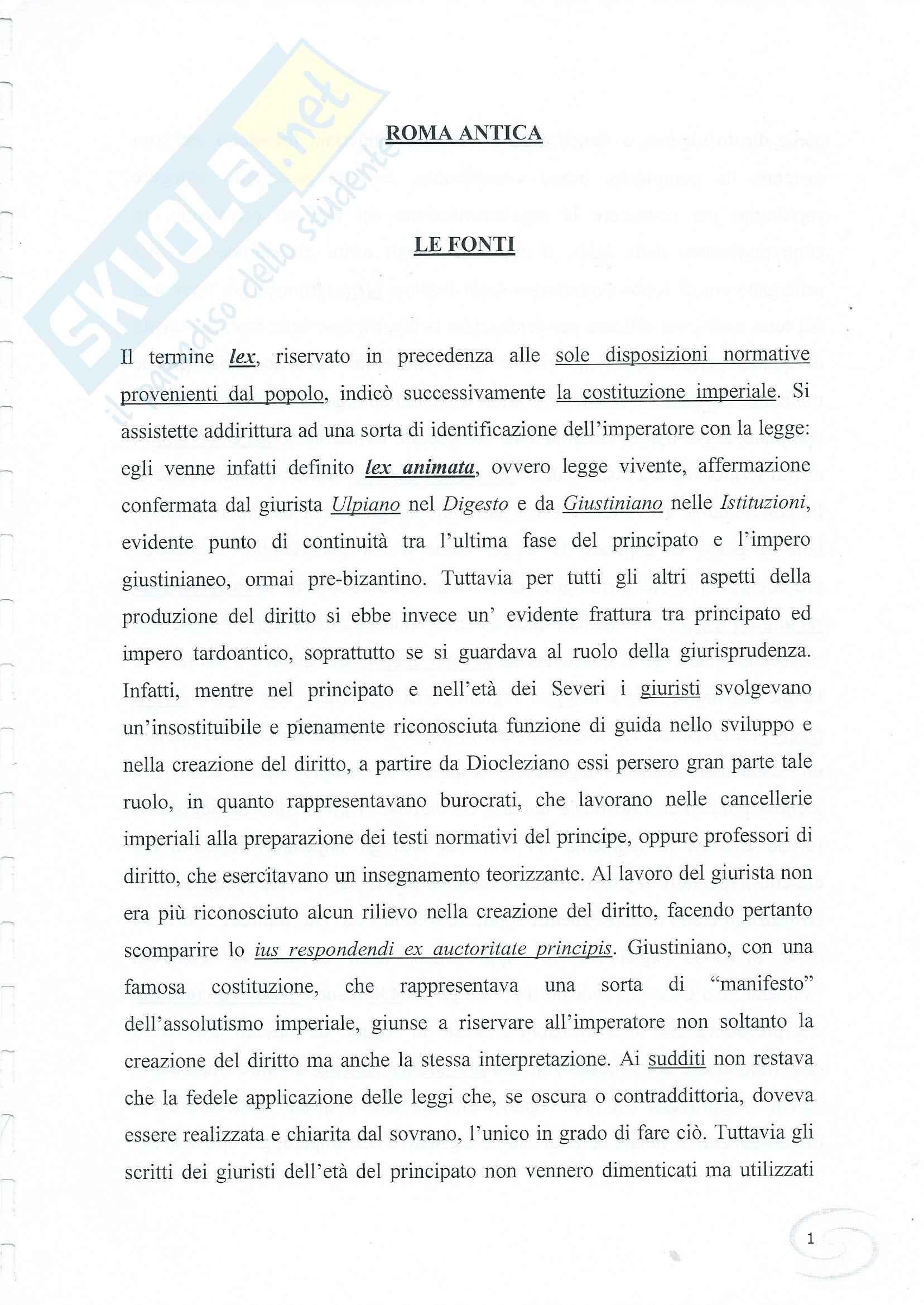 appunto C. Terreni Storia del diritto romano