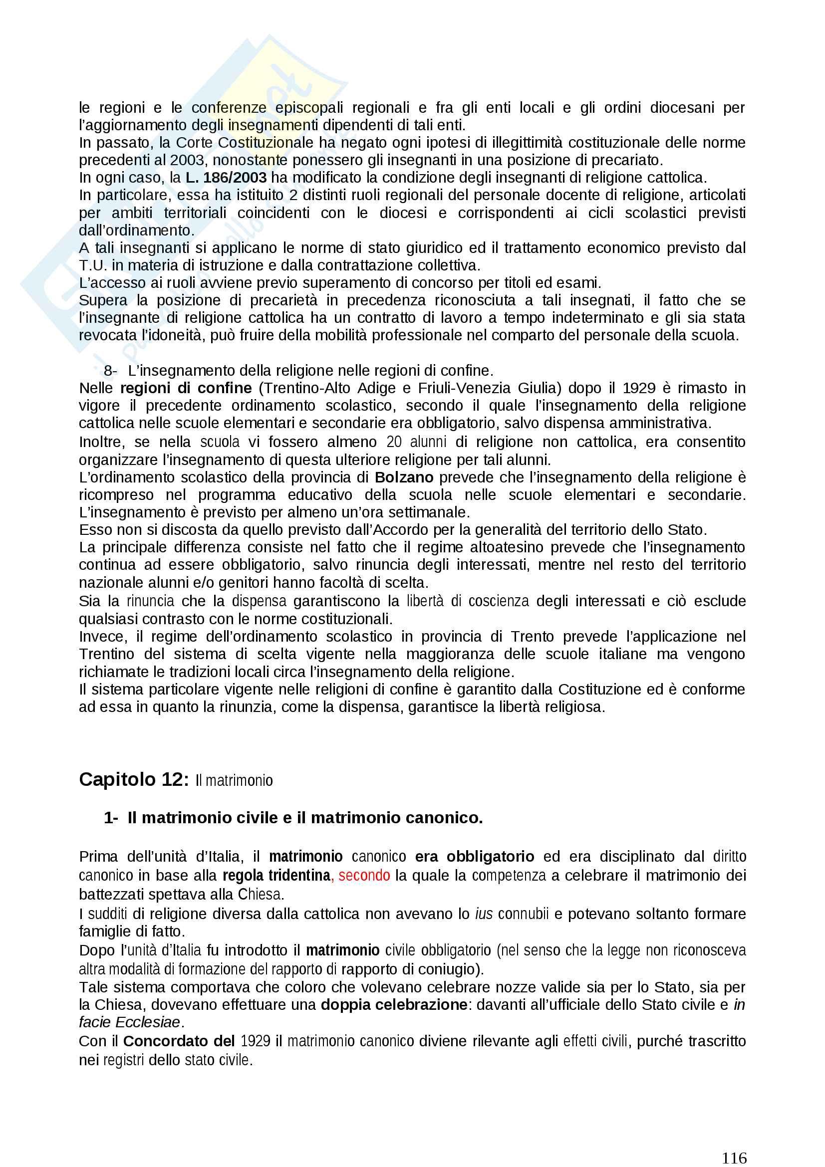 Diritto ecclesiastico Pag. 116