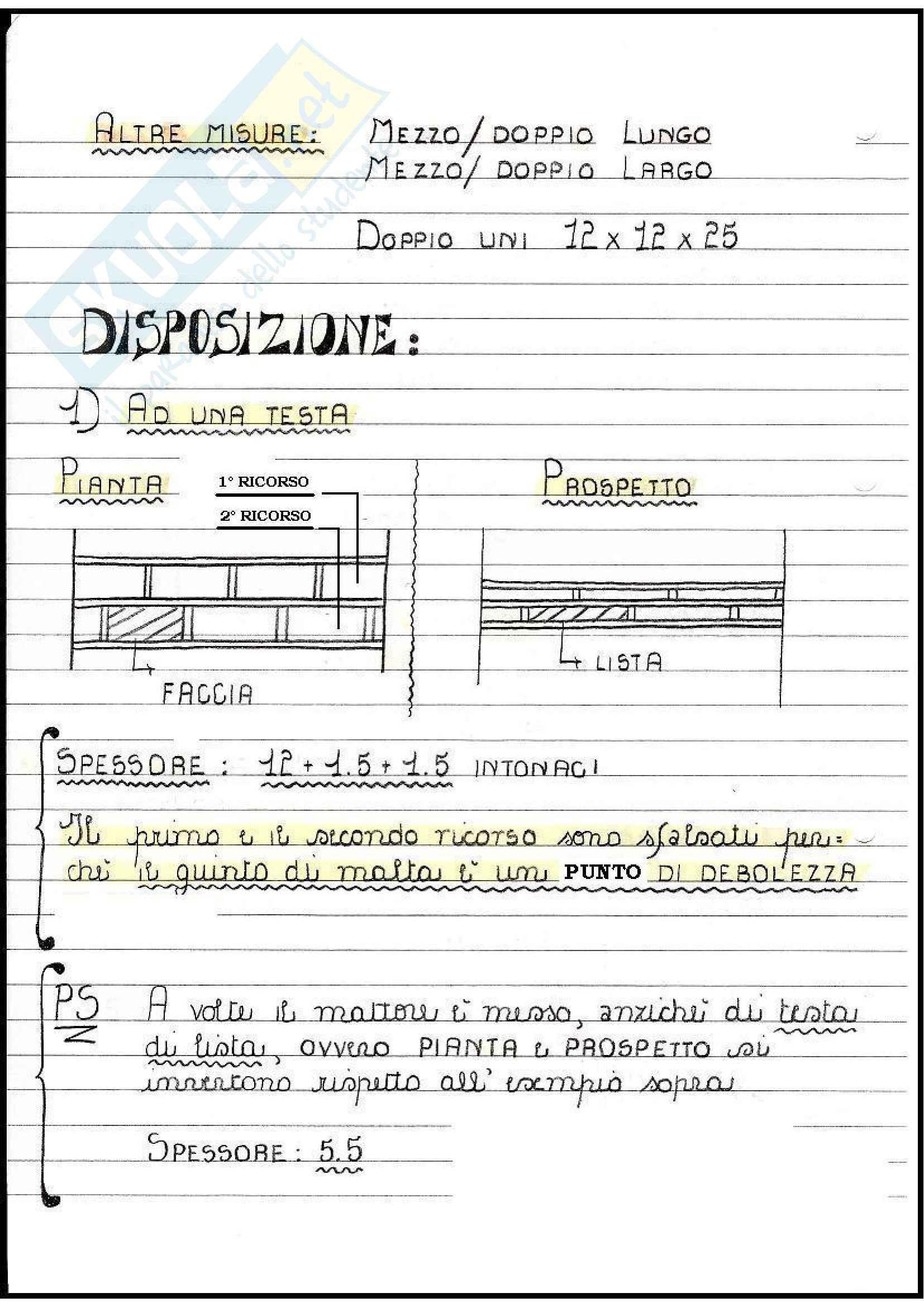 Architettura Tecnica - Murature Pag. 2