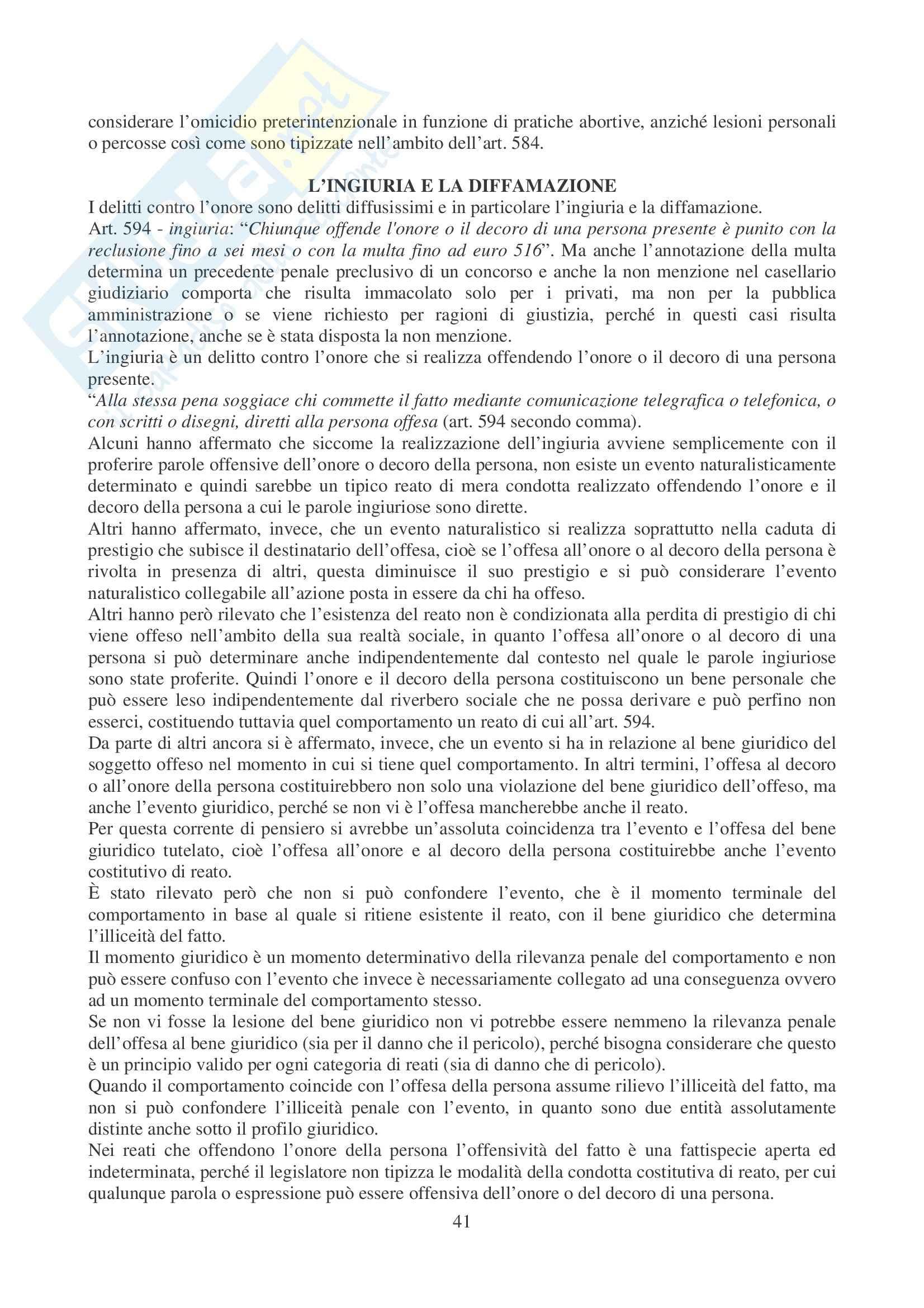 Diritto Penale II - Appunti Pag. 41