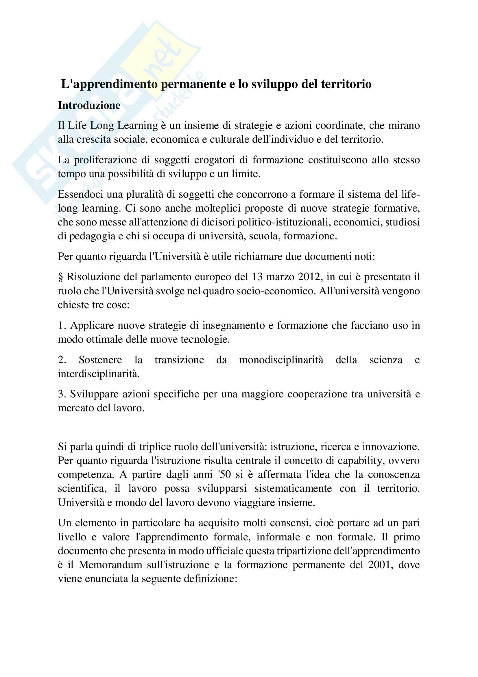 appunto V. D'Agnese Pedagogia generale