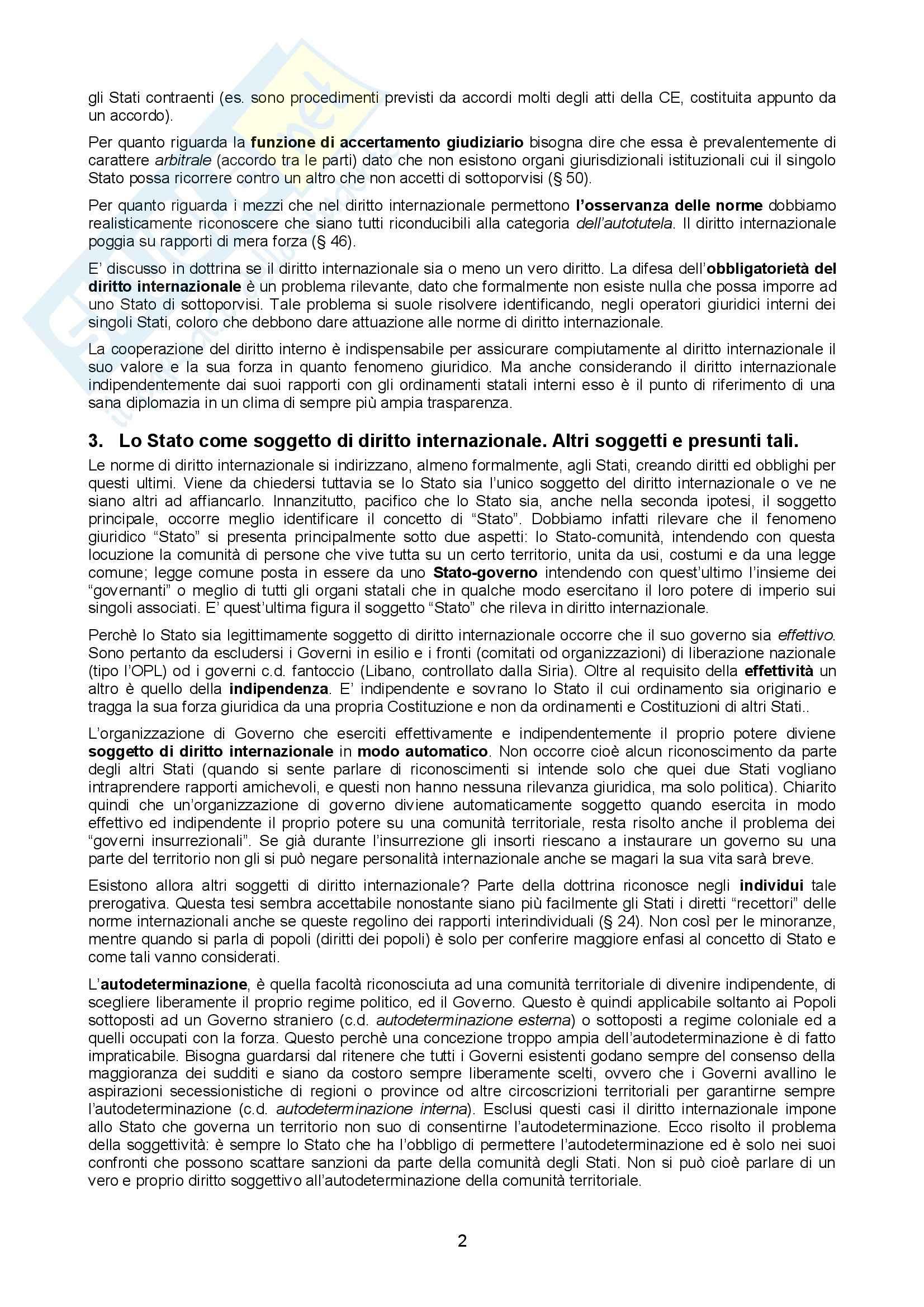 Riassunto esame Diritto Internazionale, prof. Cannone, libro consigliato Diritto internazionale, Conforti Pag. 2