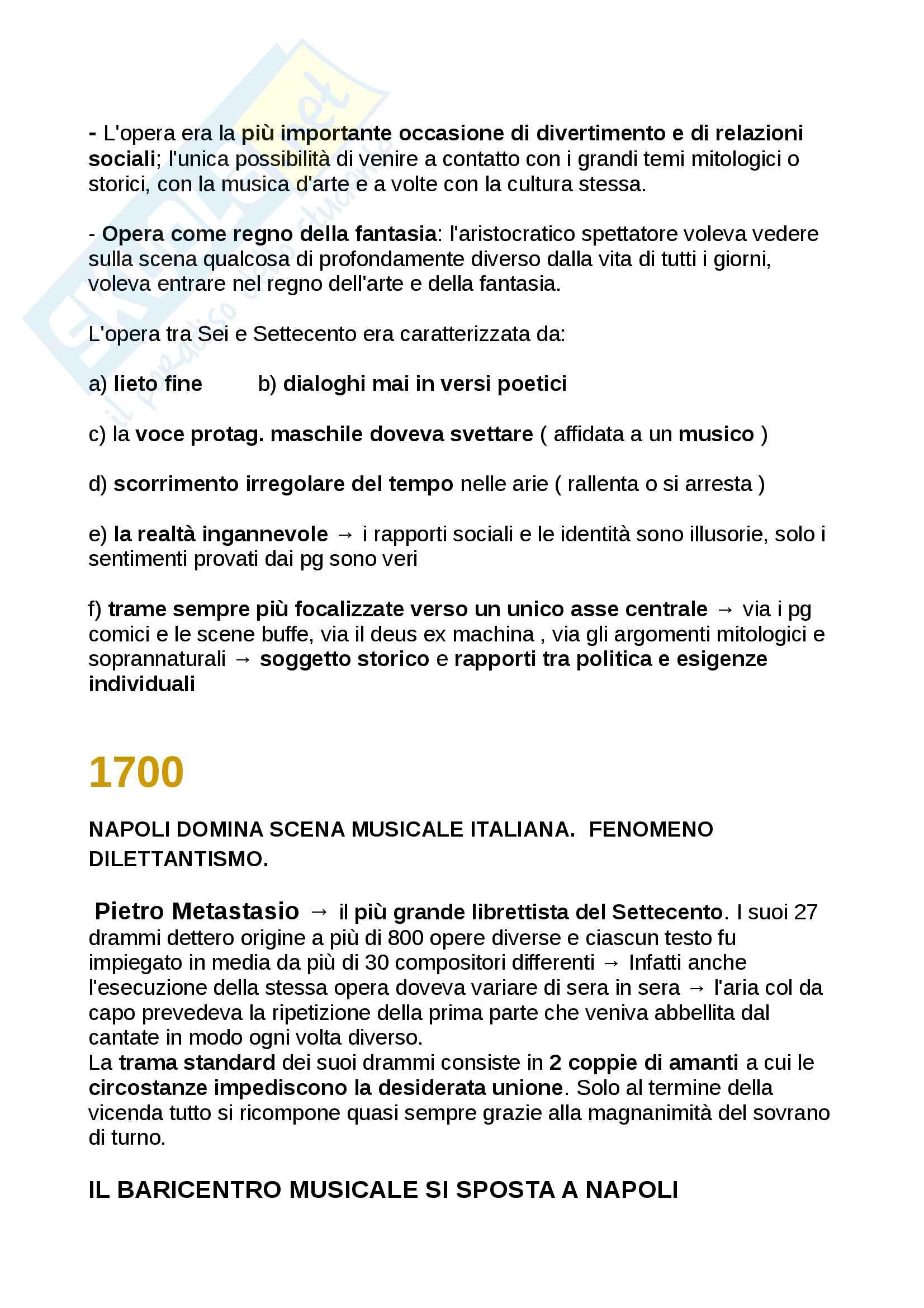"""Riassunto Storia della musica moderna e contemporanea, libri consigliati: Manuale Carrozzo, Cimagalli - dal 1500 al 1700 e """"La musica al plurale"""" di Bianconi Pag. 16"""