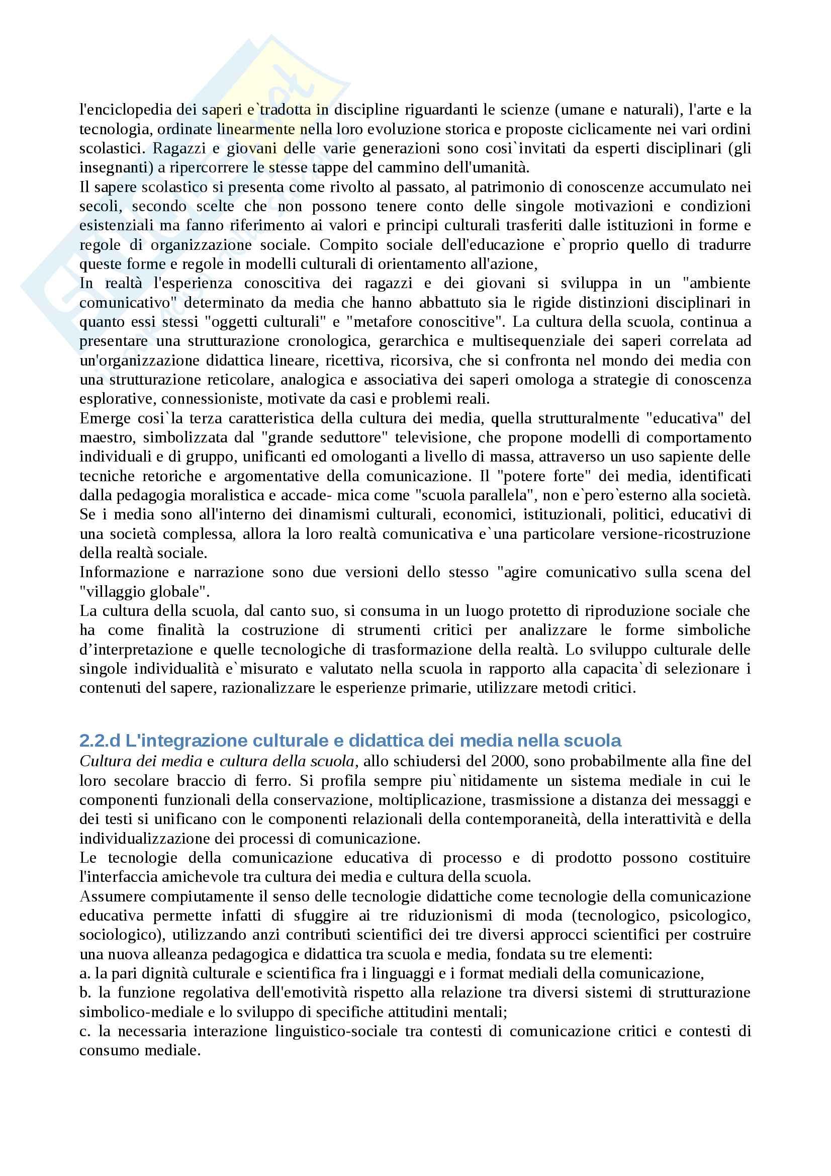 """Riassunto esame """"Tecnologie dell'istruzione e dell'apprendimento"""", prof. Luciani, libro consigliato """"I media della comunicazione didattica"""", Galliani Pag. 6"""