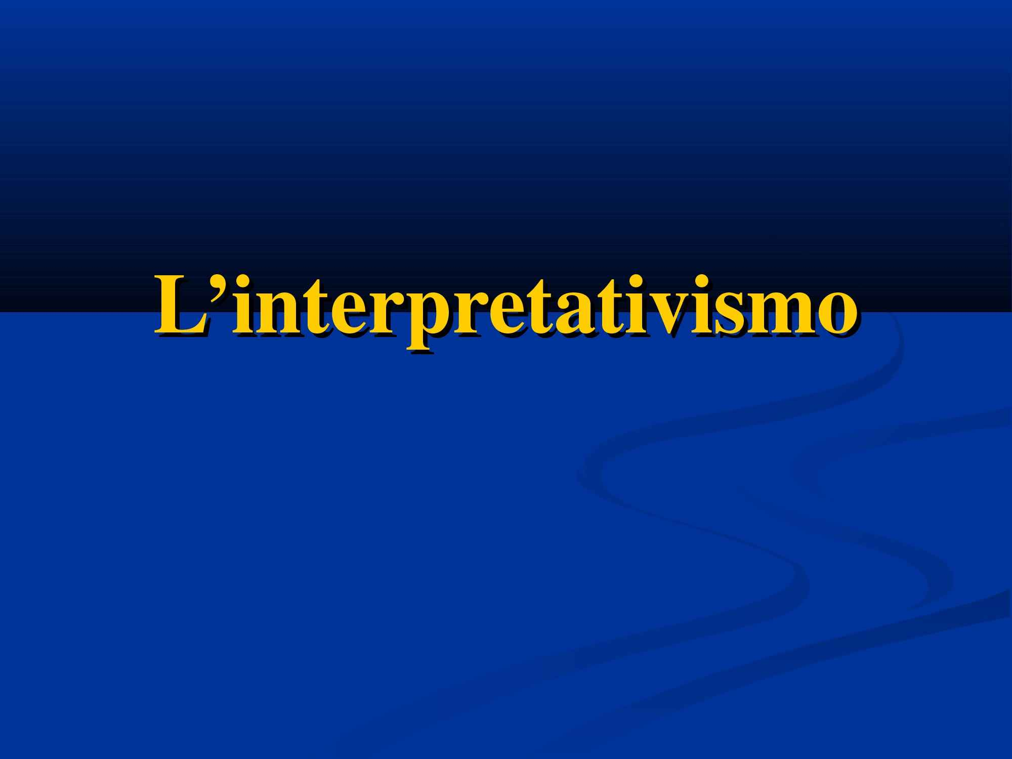 Interpretativismo - Weber