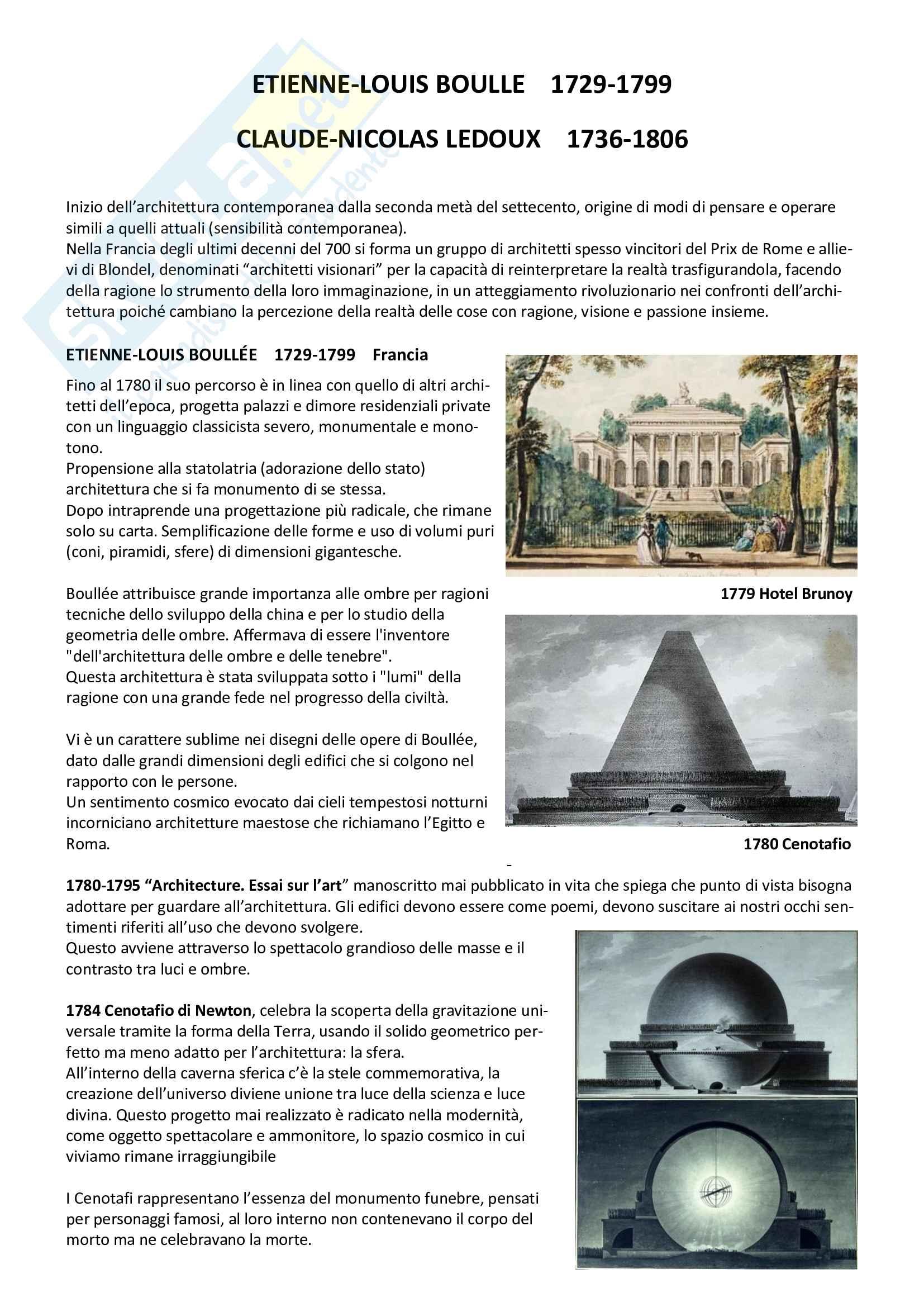 Storia dell architettura contemporanea - riassunti